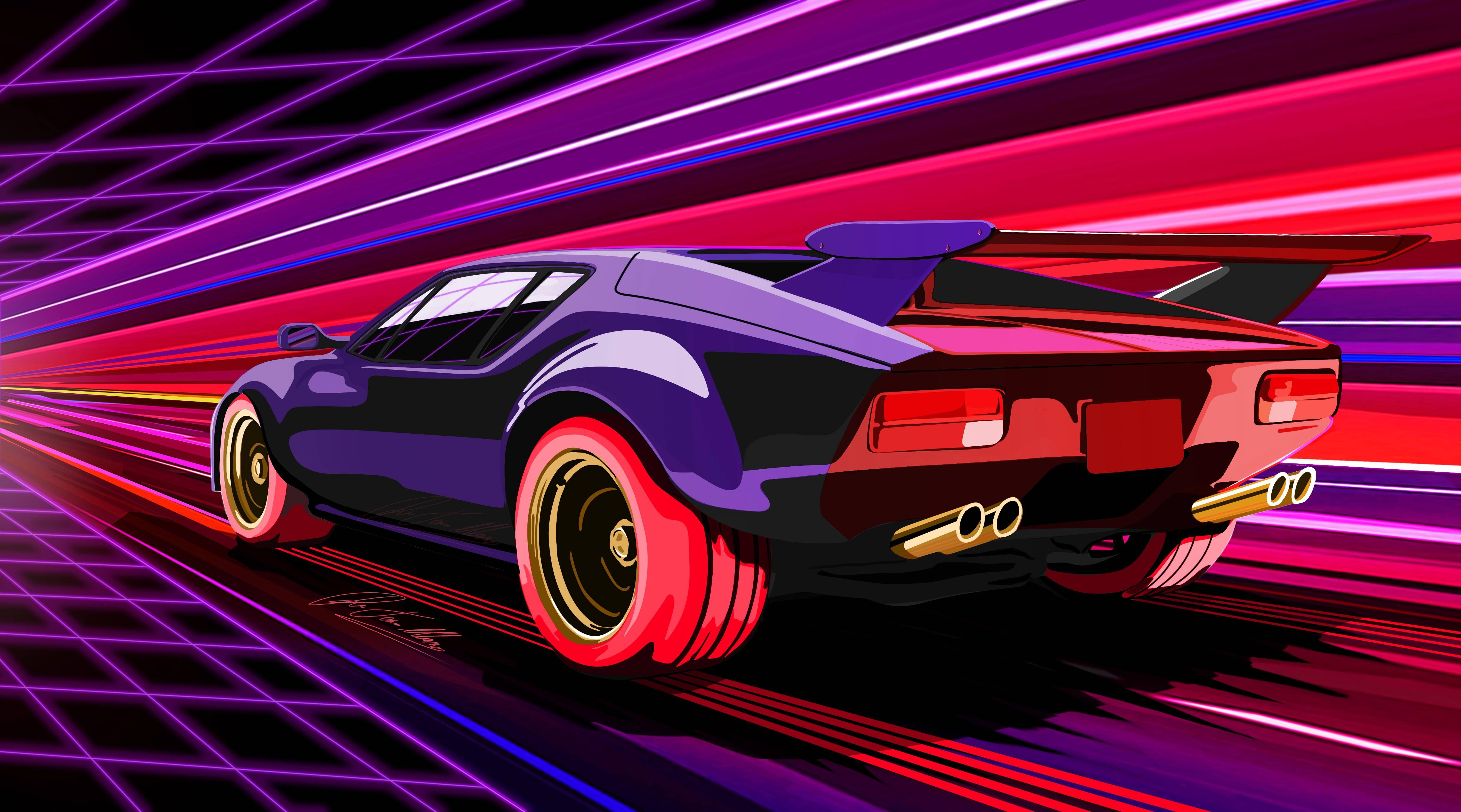 1980 Pantera Car Artwork Hd Artist 4k Wallpapers Images