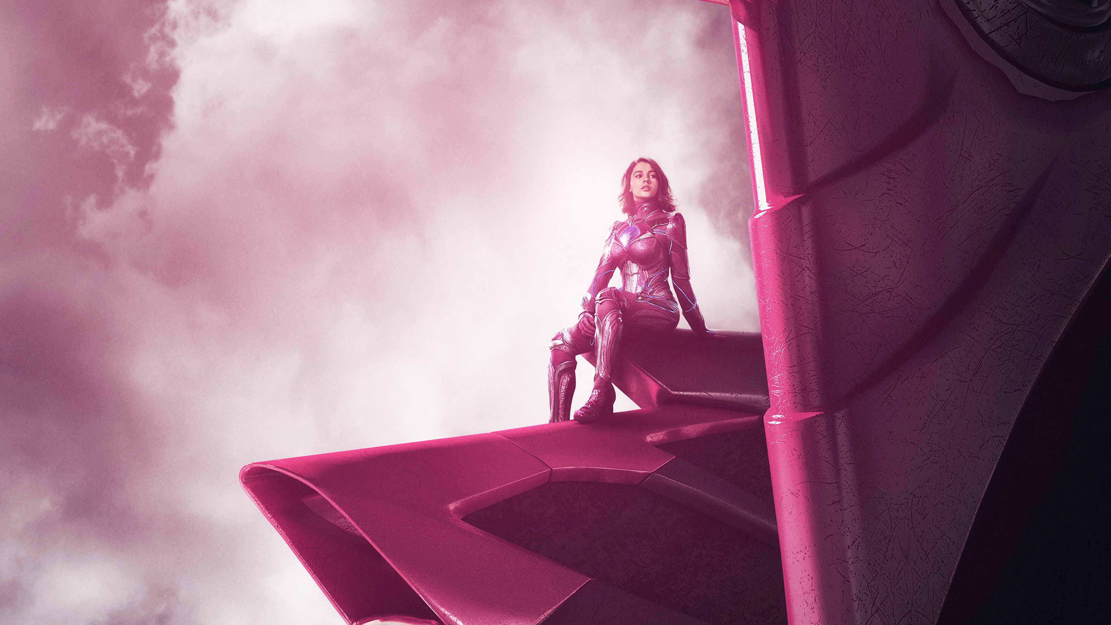 2017 power rangers zord pink hd movies 4k wallpapers - Pink wallpaper 4k ...