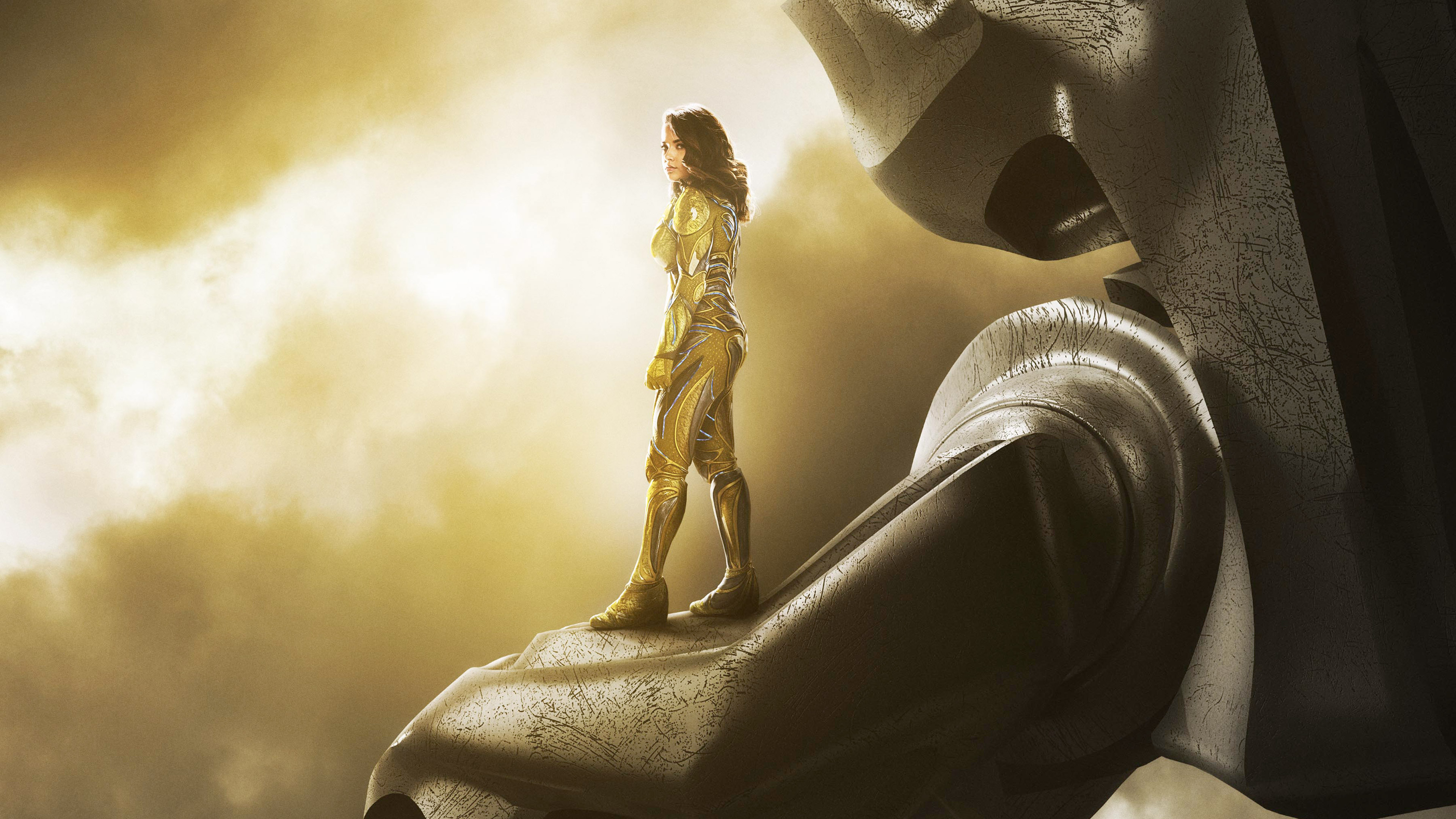 2017 power rangers zord yellow movies hd 4k wallpapers