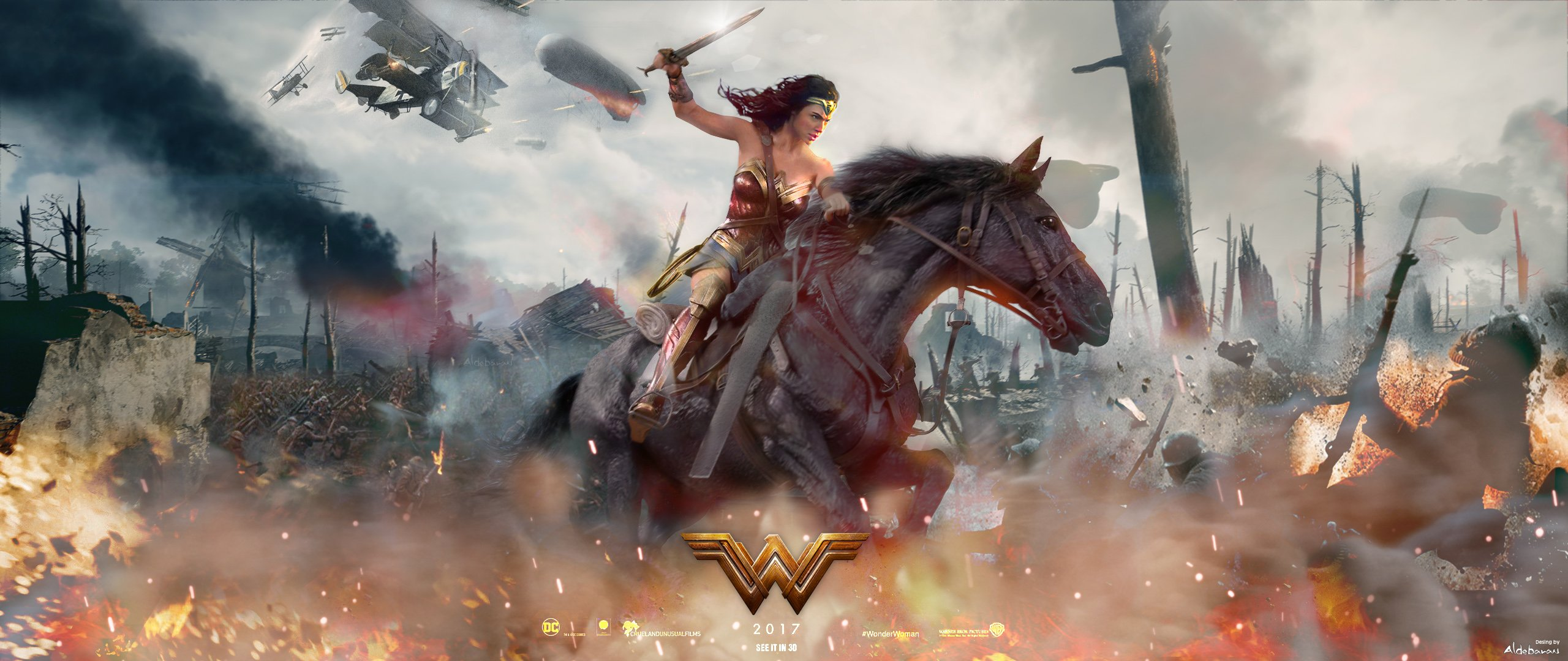 Wonder Woman Movie Wallpaper 1: 2017 Wonder Woman Movie Fan Art, HD Movies, 4k Wallpapers