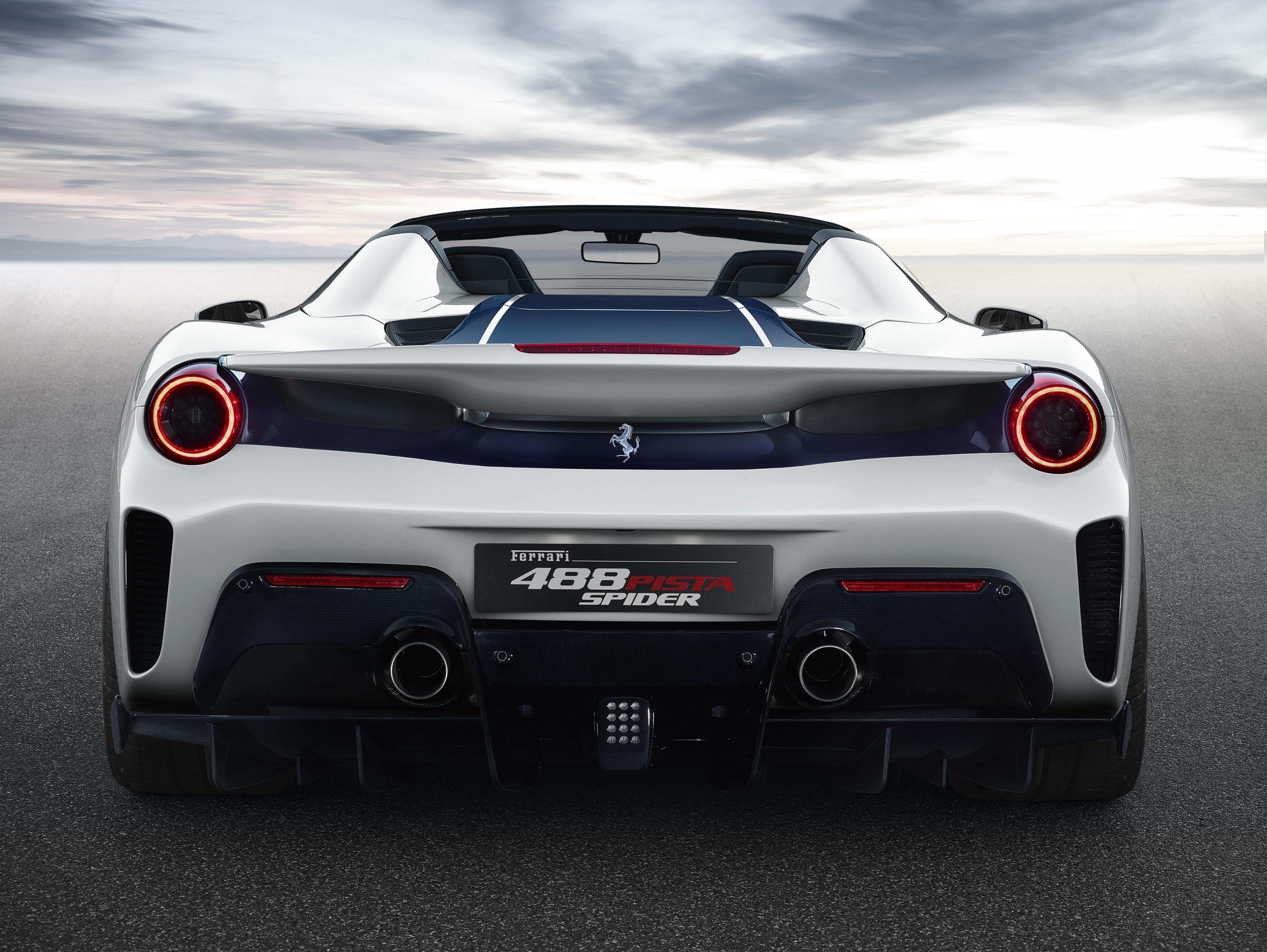 3840x2160 2018 Ferrari 488 Pista Spider Rear 4k HD 4k ...