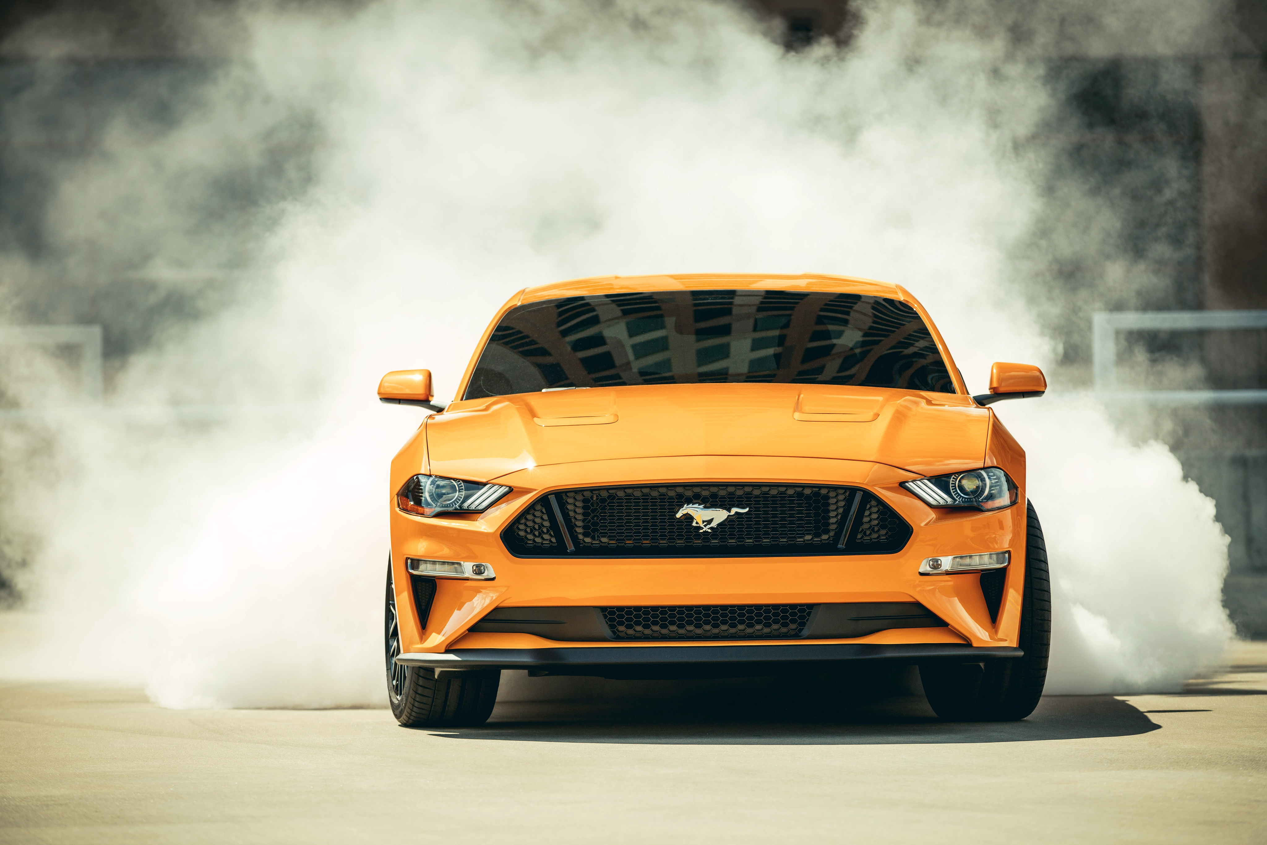 2018 Mustang Wallpaper >> 2018 Ford Mustang Gt Fastback Front Hd Cars 4k Wallpapers Images