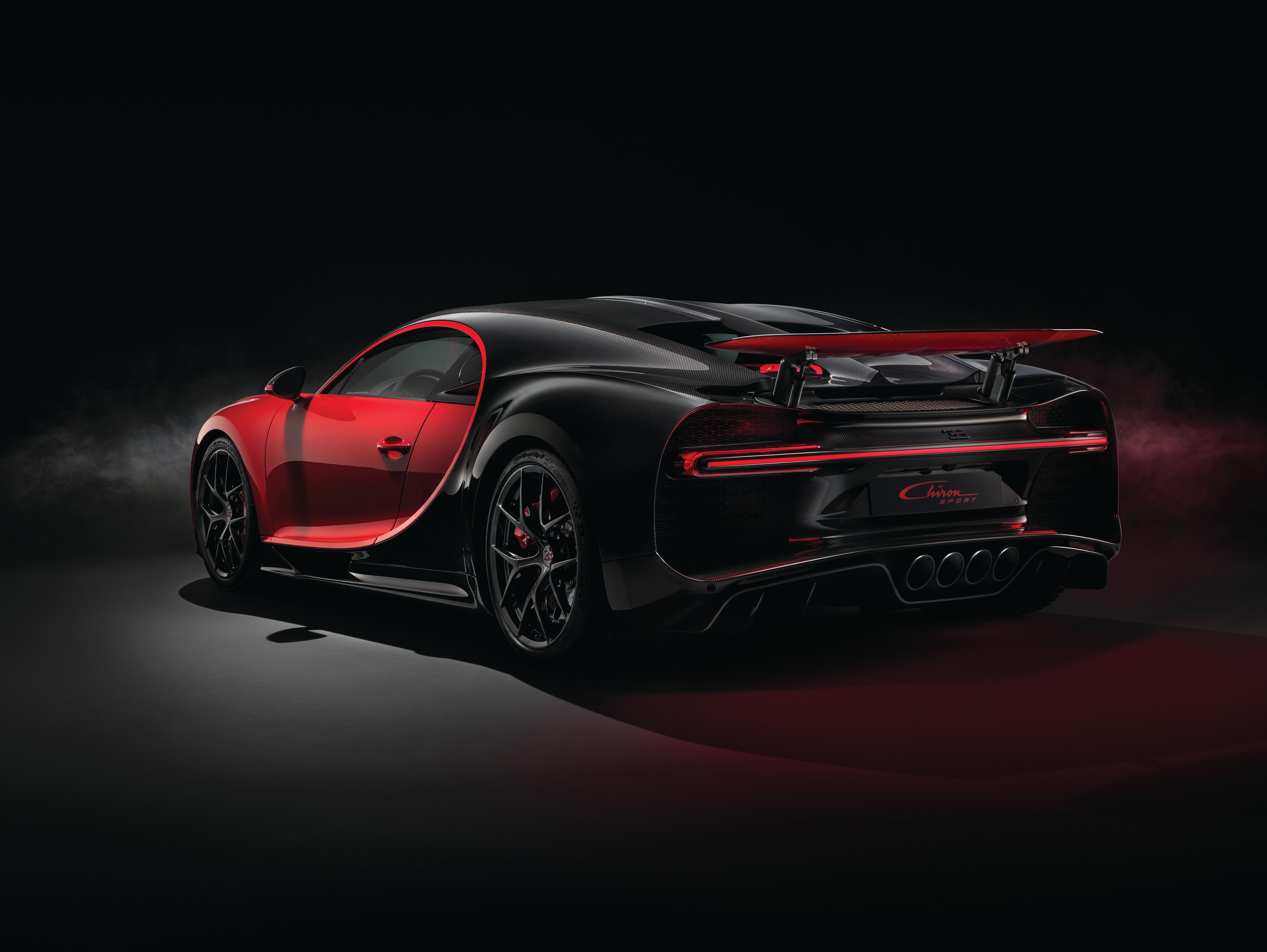 2018 Red Bugatti Chiron Sport Rear View, HD Cars, 4k ...