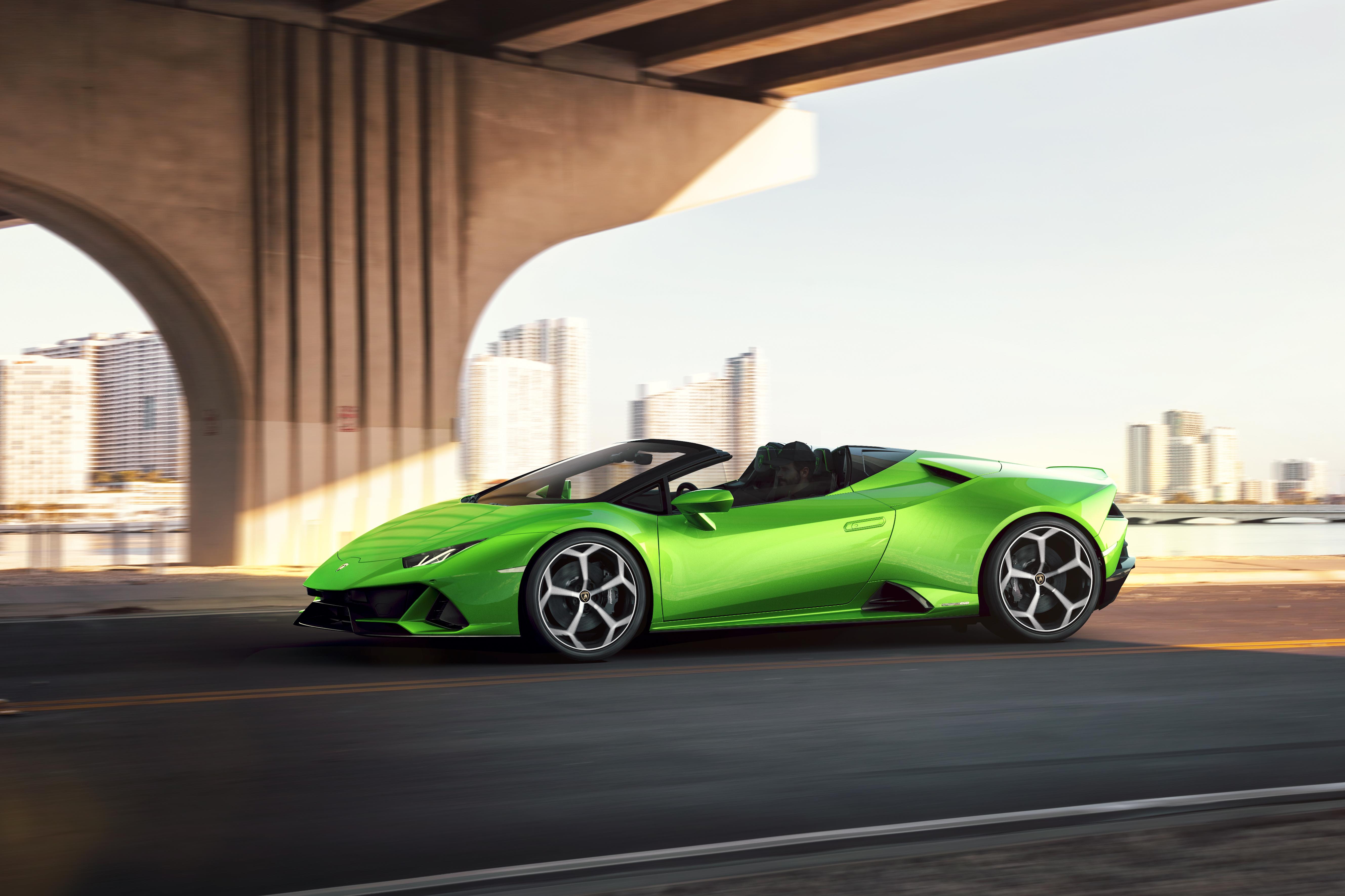 2019 Lamborghini Huracan Evo Spyder Side View, HD Cars, 4k
