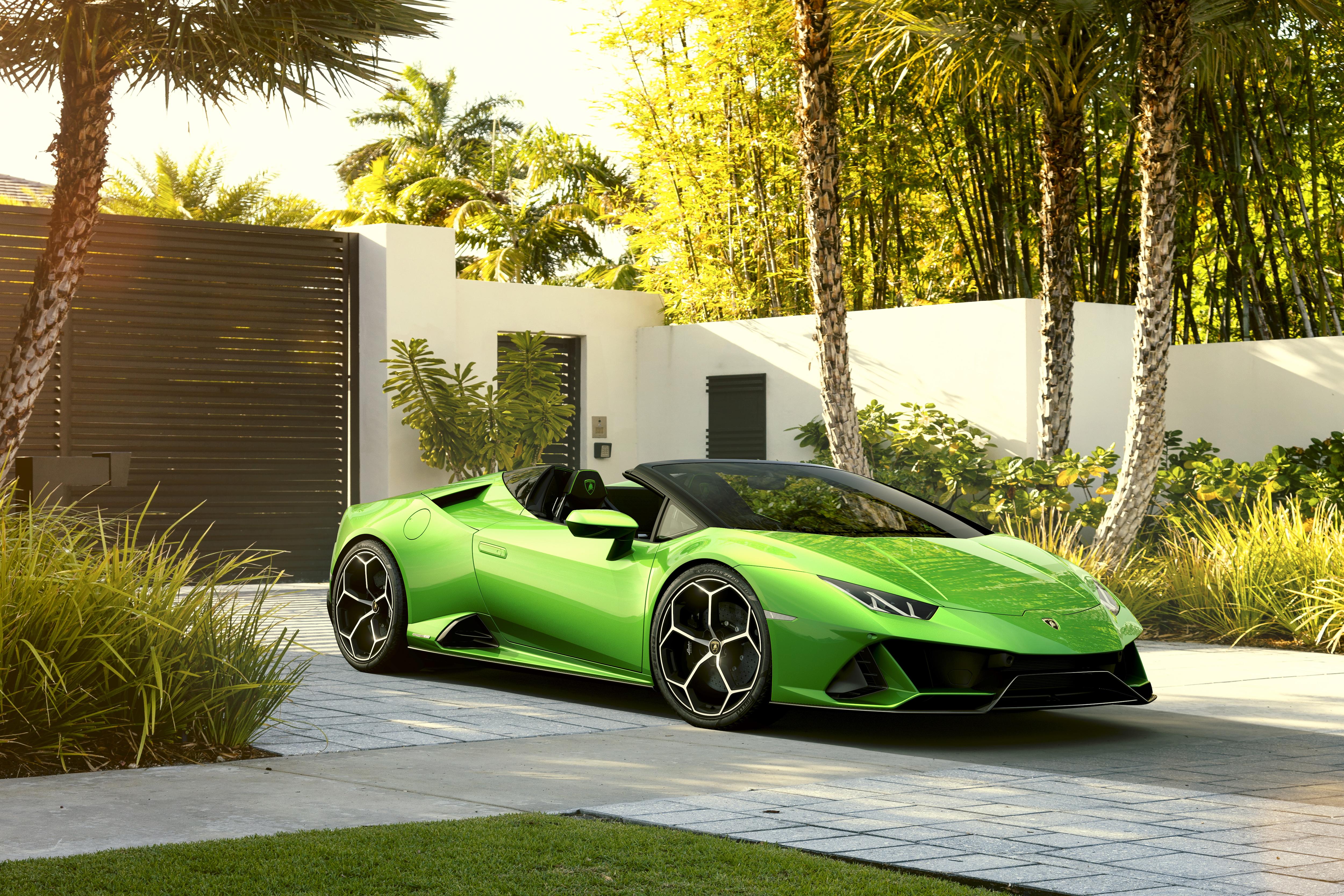 2019 Lamborghini Huracan Evo Spyder, HD Cars, 4k Wallpapers