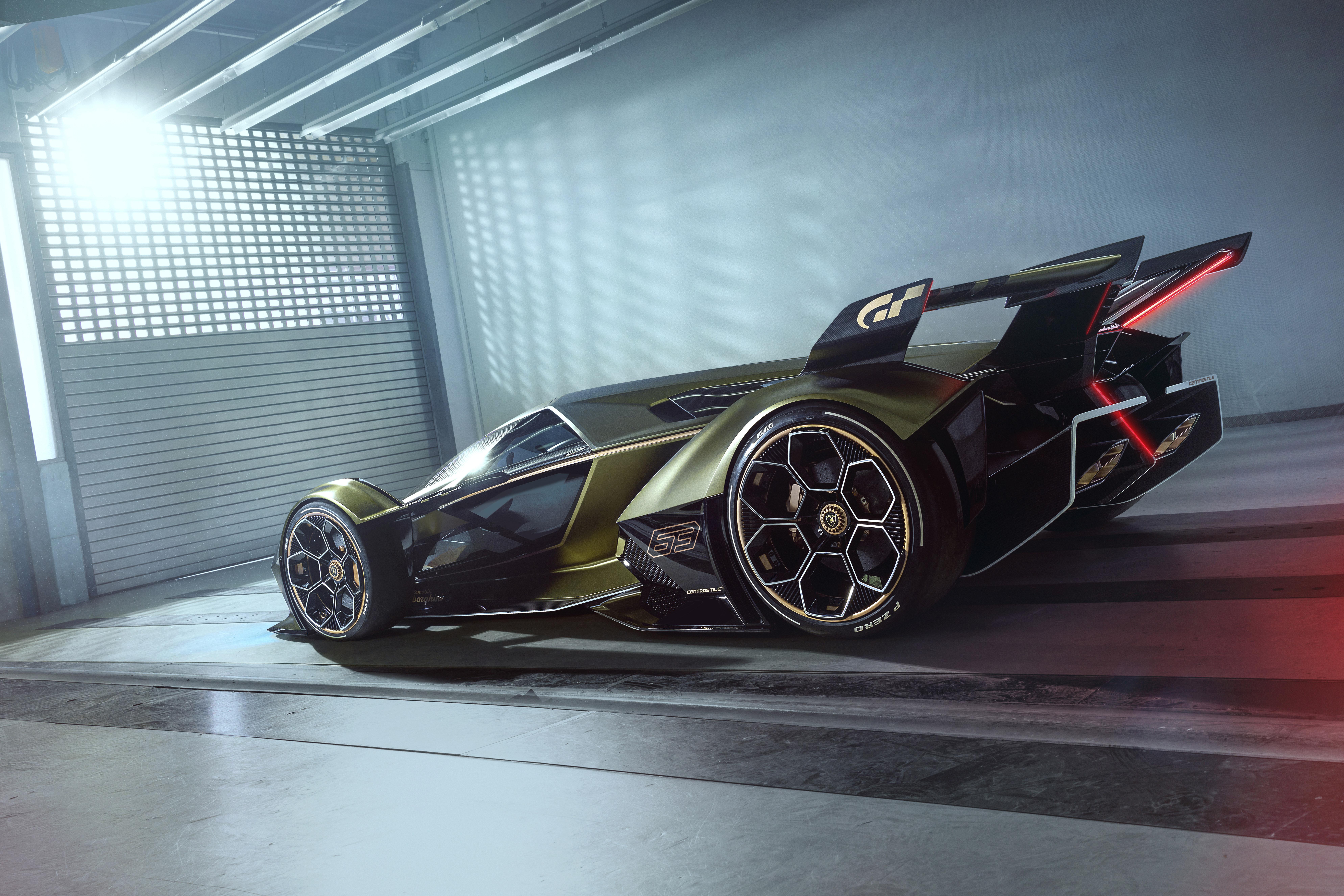 2020 Lamborghini Lambo V12 Vision Gran Turismo Side View ...
