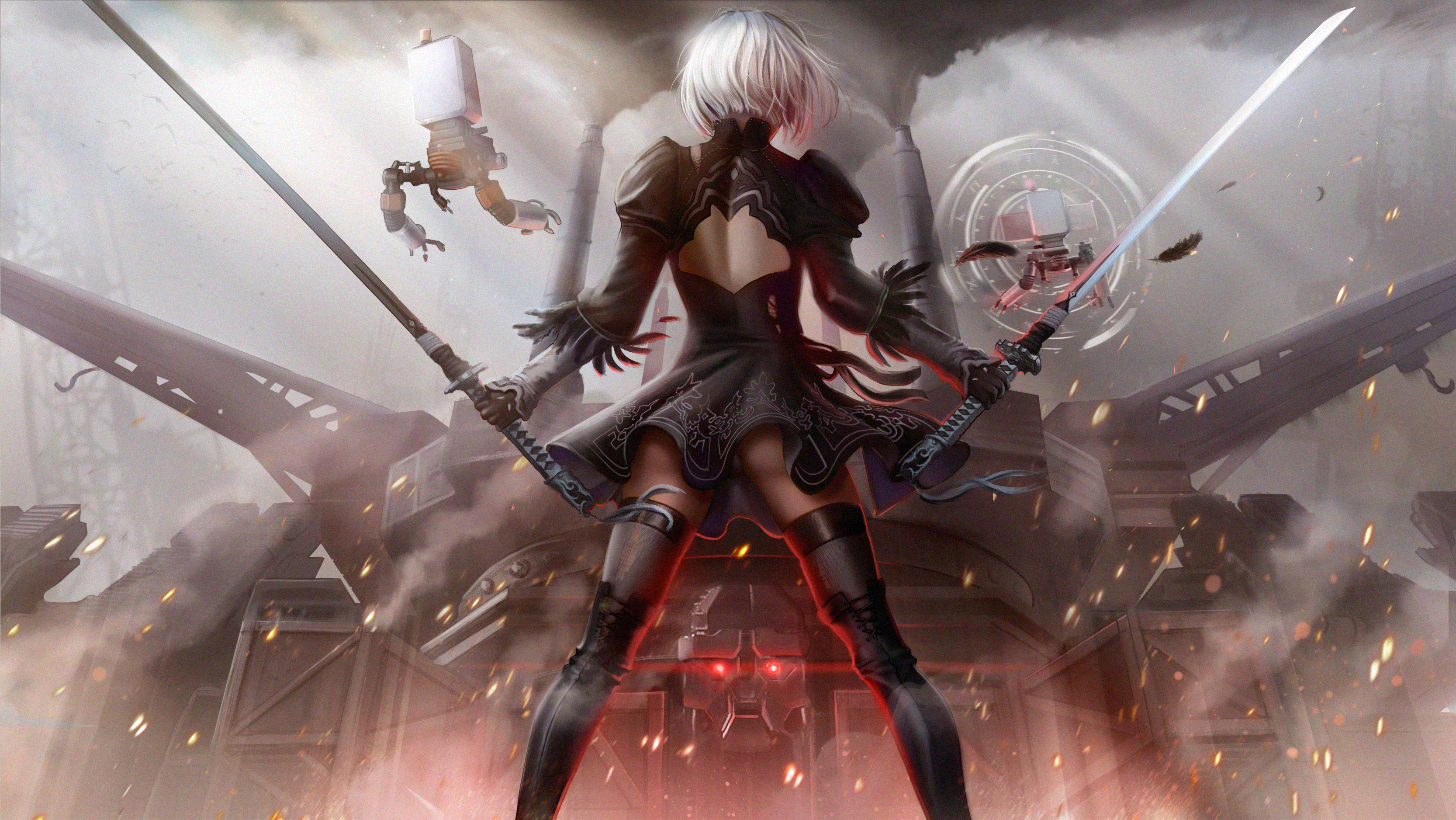 Nier Automata Fan Art Wallpaper 01 1920x1080: 2560x1080 2B NieR Automata Art 2560x1080 Resolution HD 4k