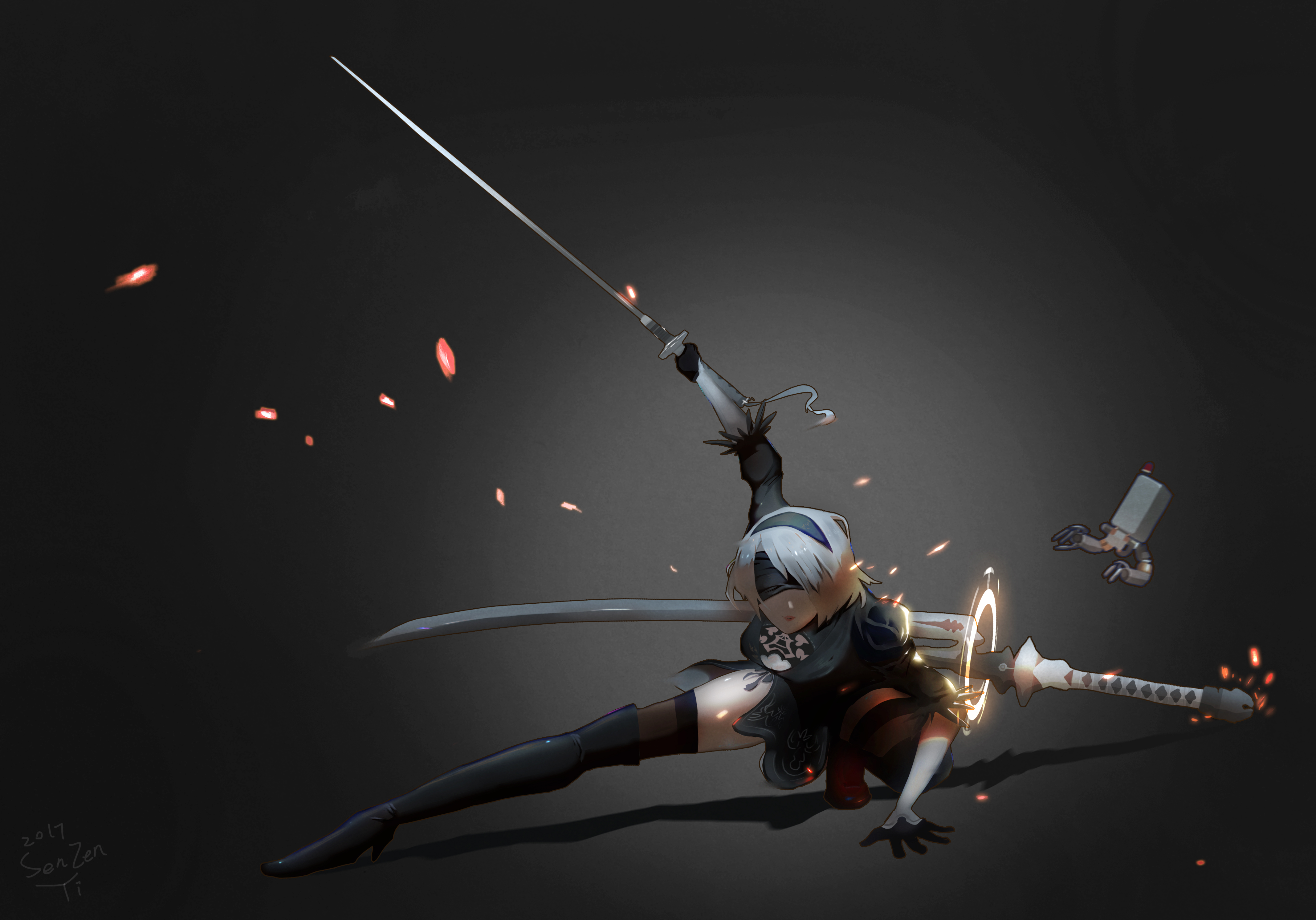 2b nier automata katana 5k hd anime 4k wallpapers - 5k anime wallpaper ...
