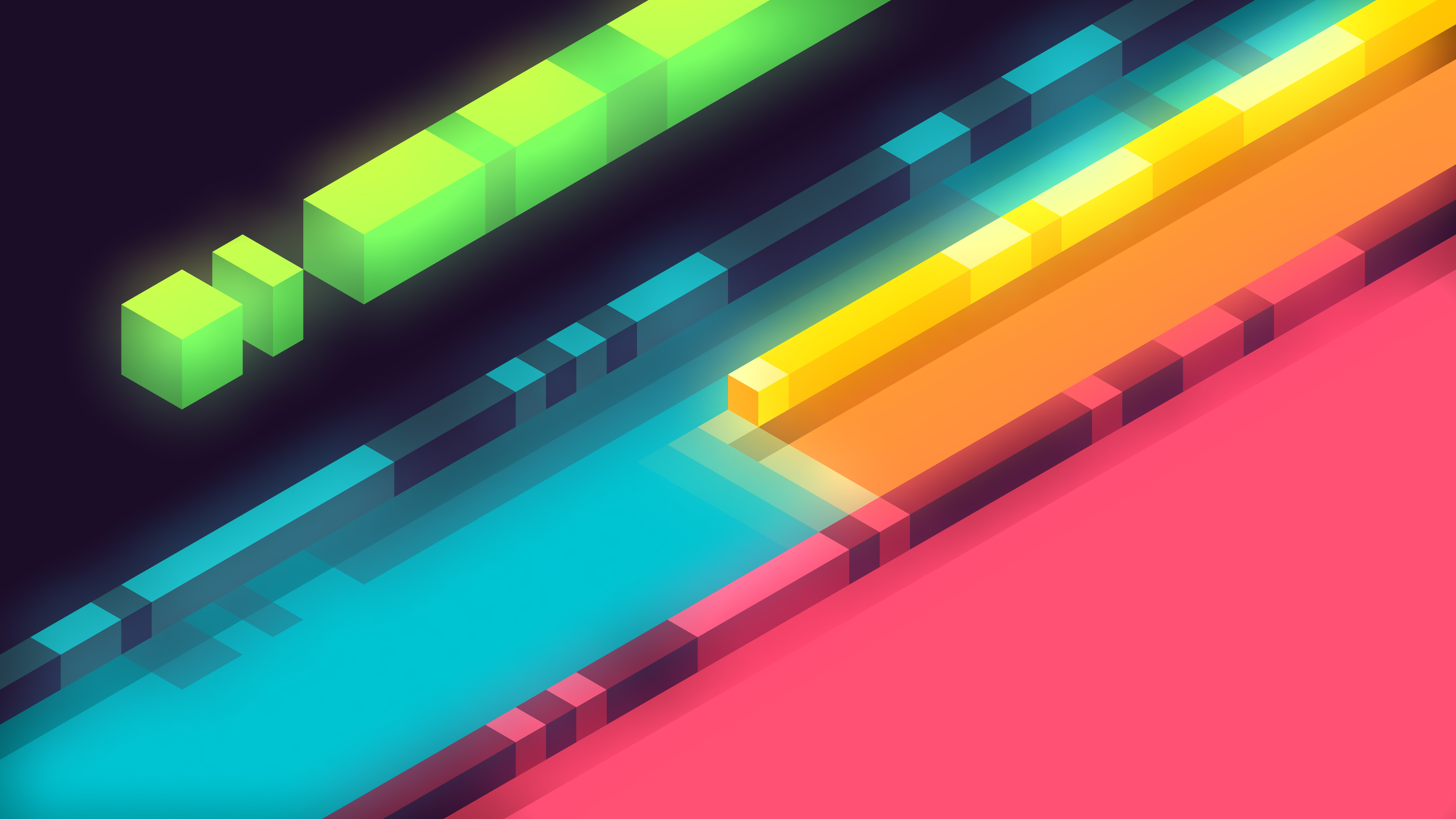 3d Abstract Colorful Shapes Minimalist 5k Hd 3d 4k