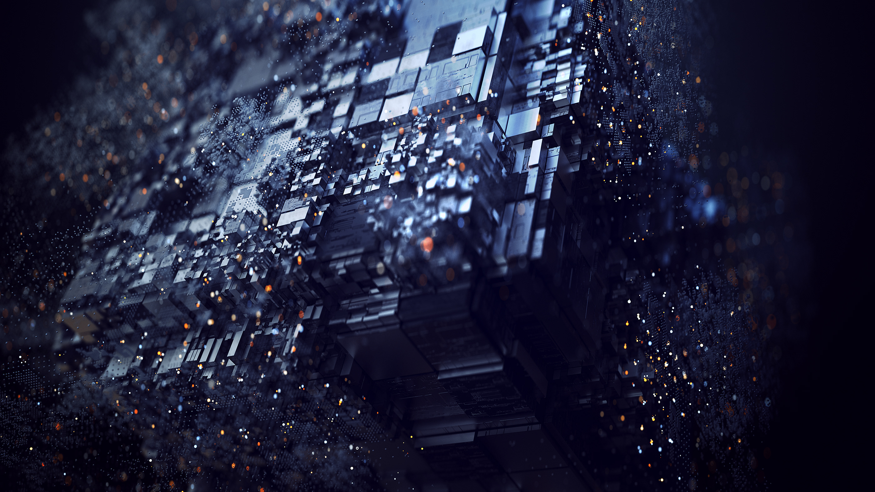 3d Abstract Digital Art Shapes, HD 3D, 4k Wallpapers
