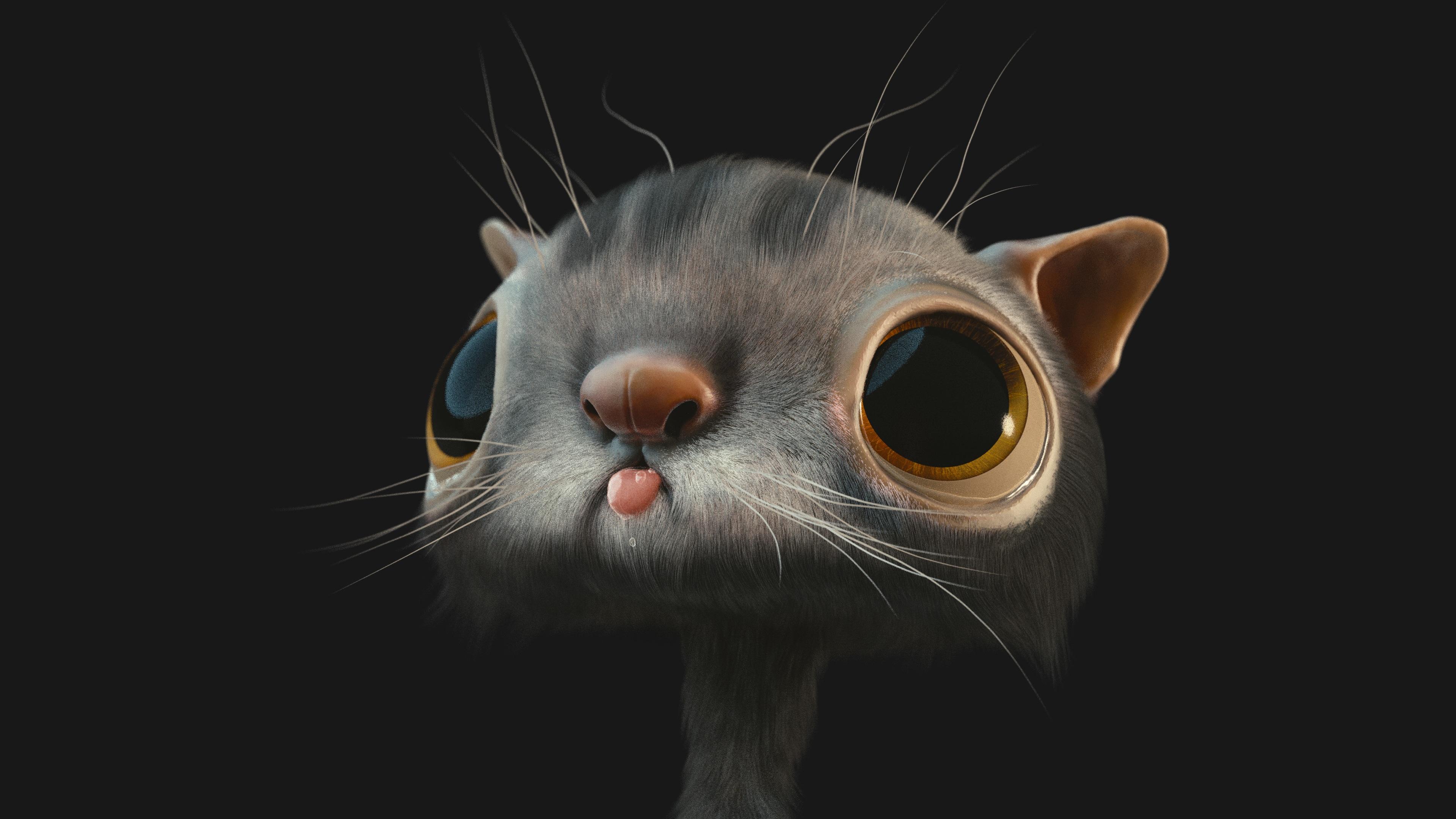 Cat Eye On Black Paper