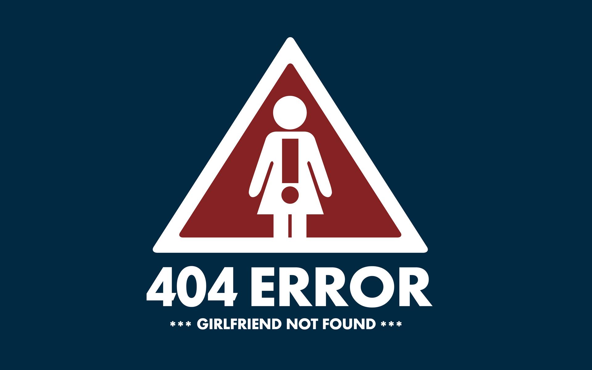 Background image 404 not found - 404 Error Girlfriend Not Found