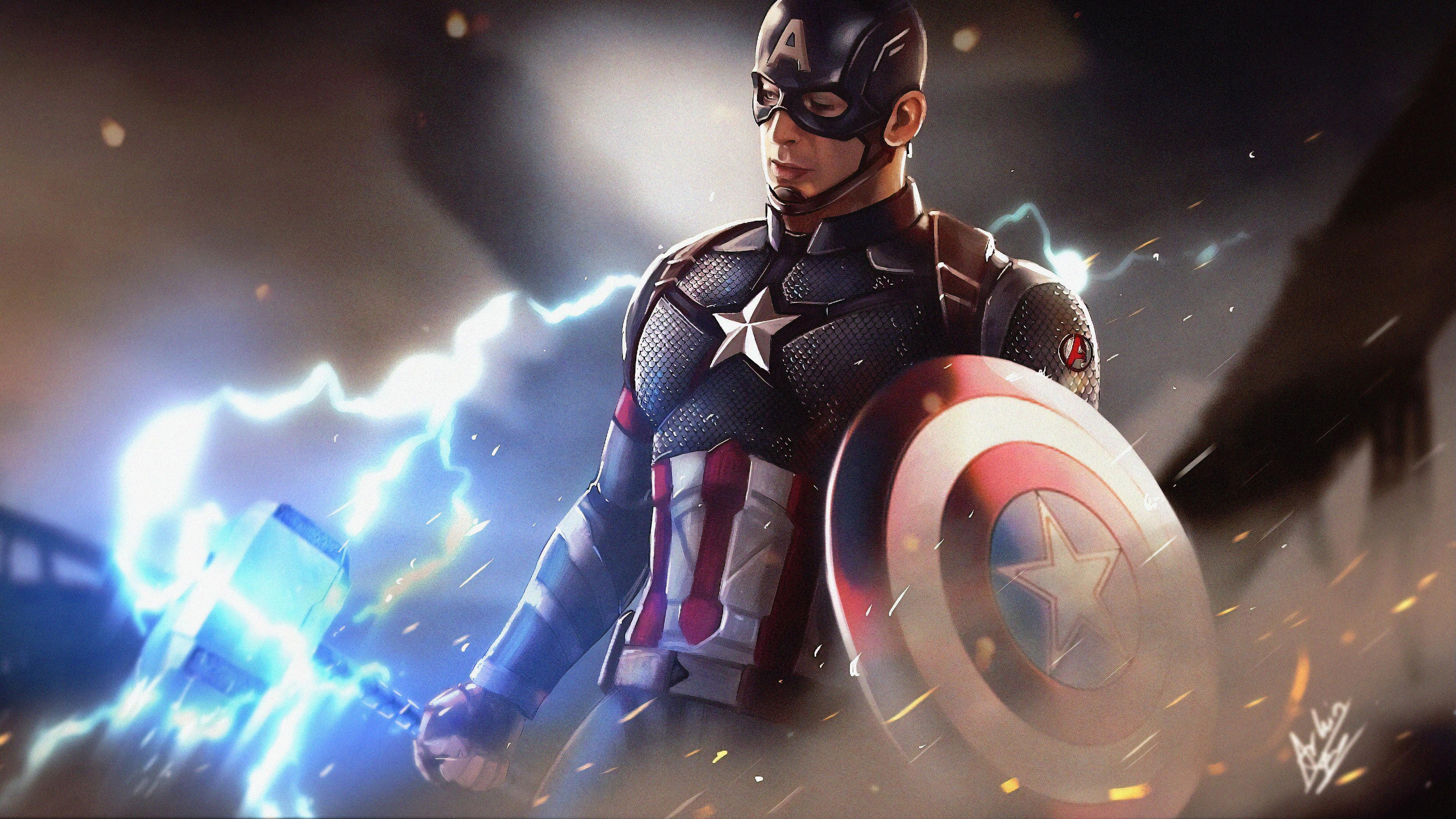 4k Captain America Artwork, HD Superheroes, 4k Wallpapers ...