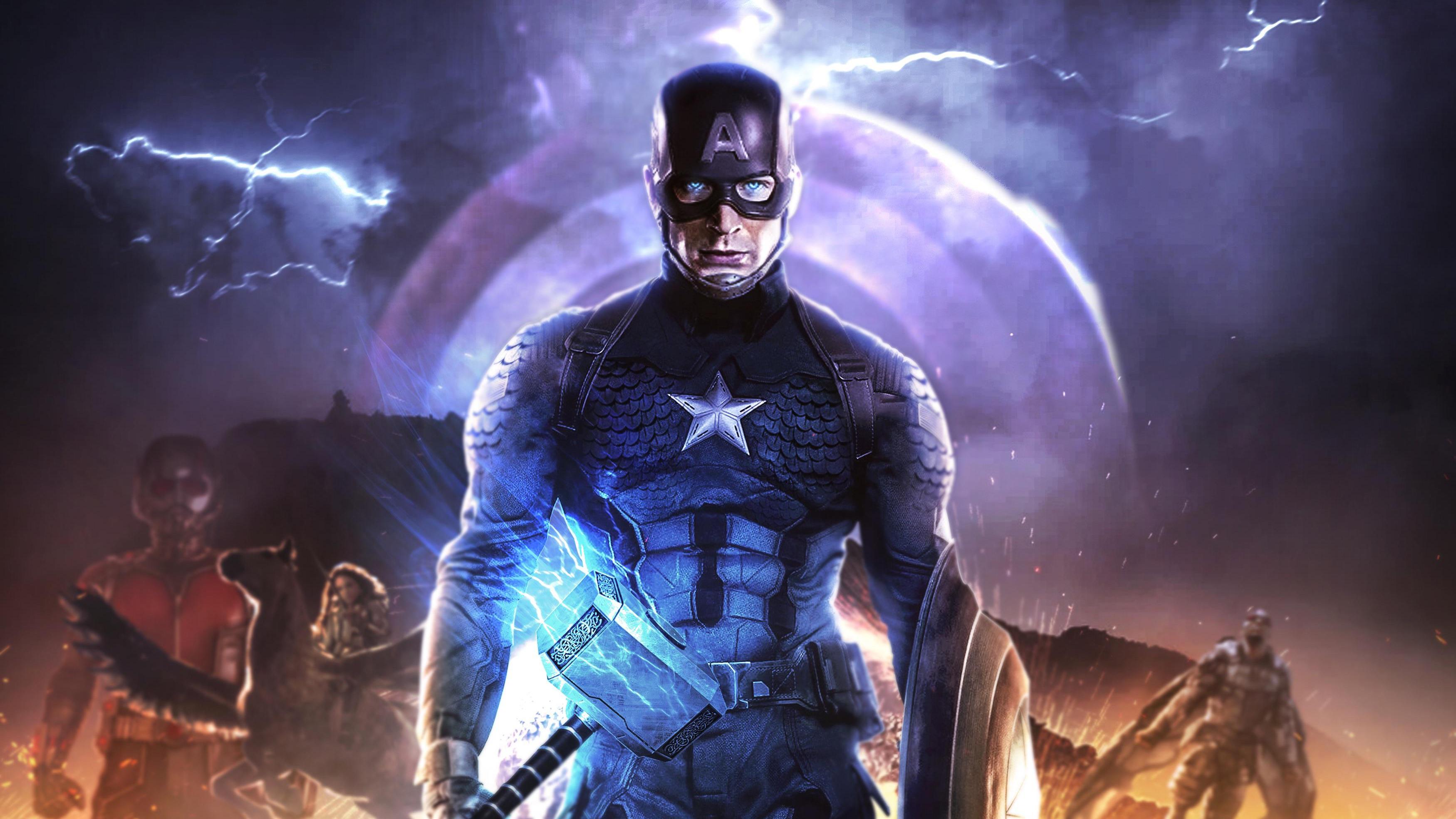 1920x1080 4k Captain America In Avengers Endgame Laptop ...