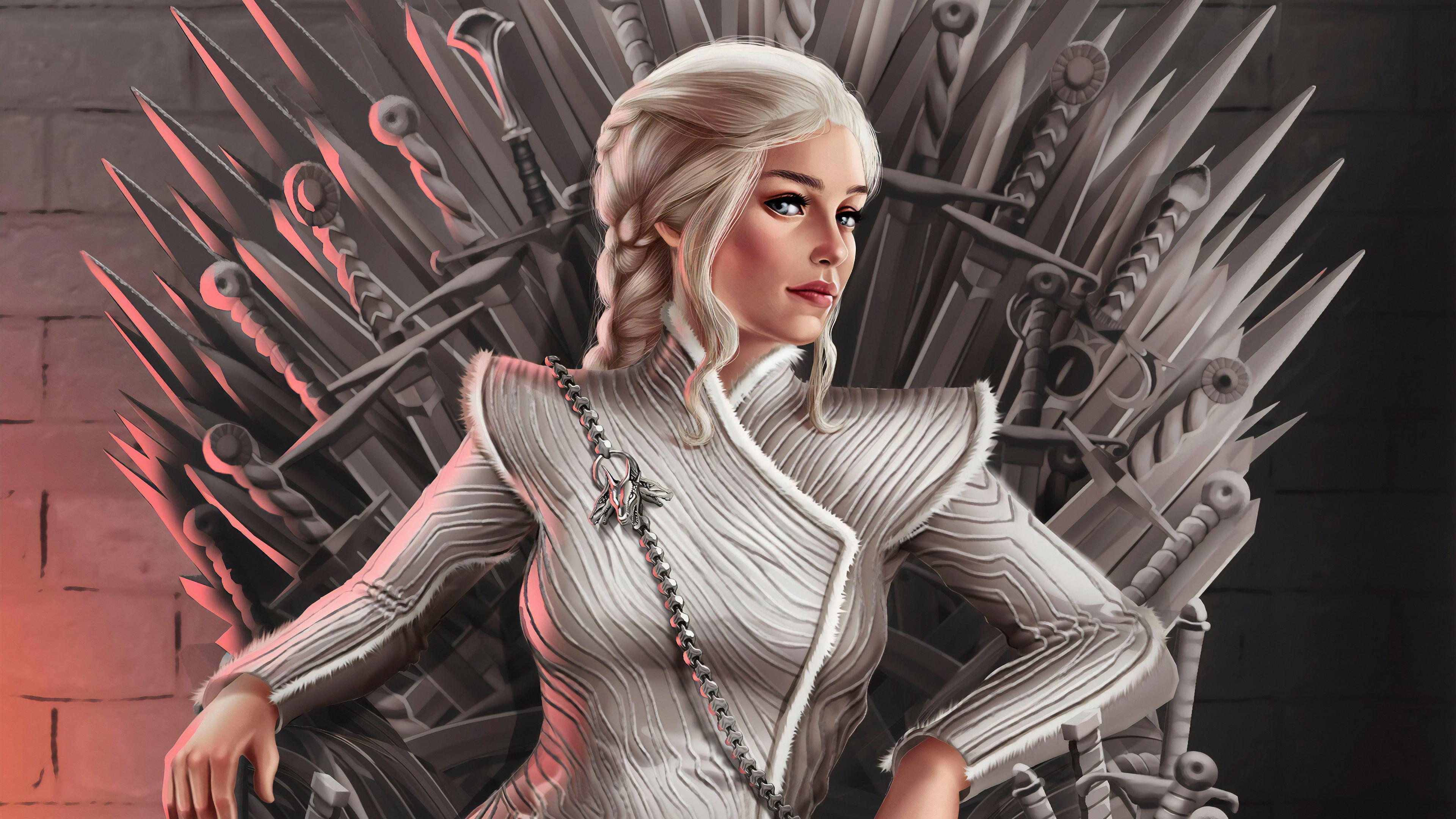 4k Daenerys Targaryen Art Hd Tv Shows 4k Wallpapers