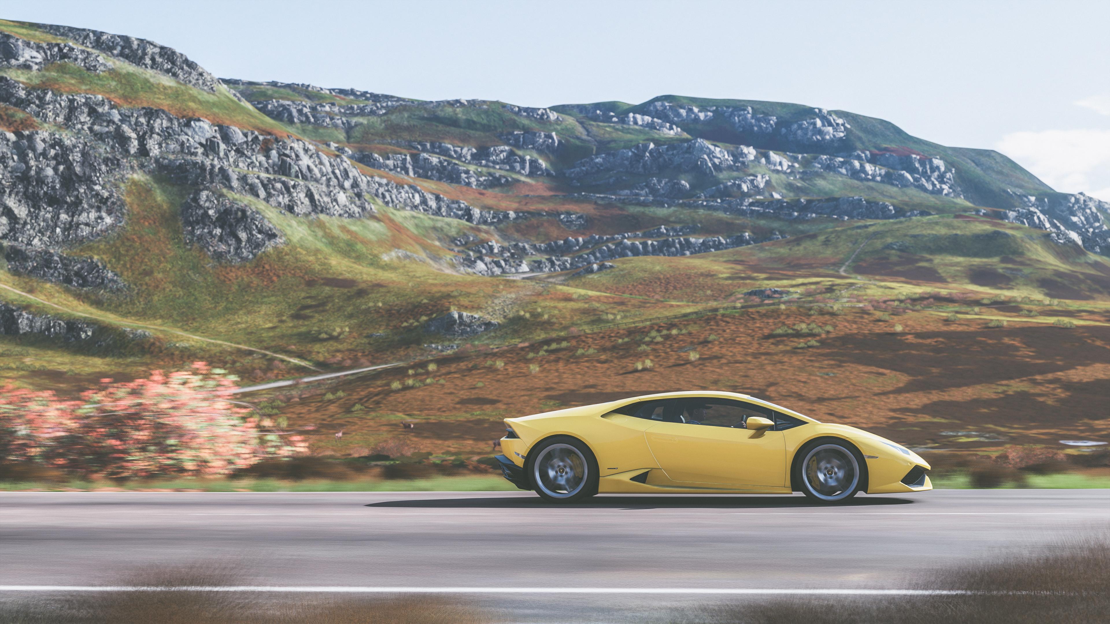 Forza Horizon 4 Wallpaper: 4k Forza Horizon 4 Lamborghini Huracan, HD Games, 4k