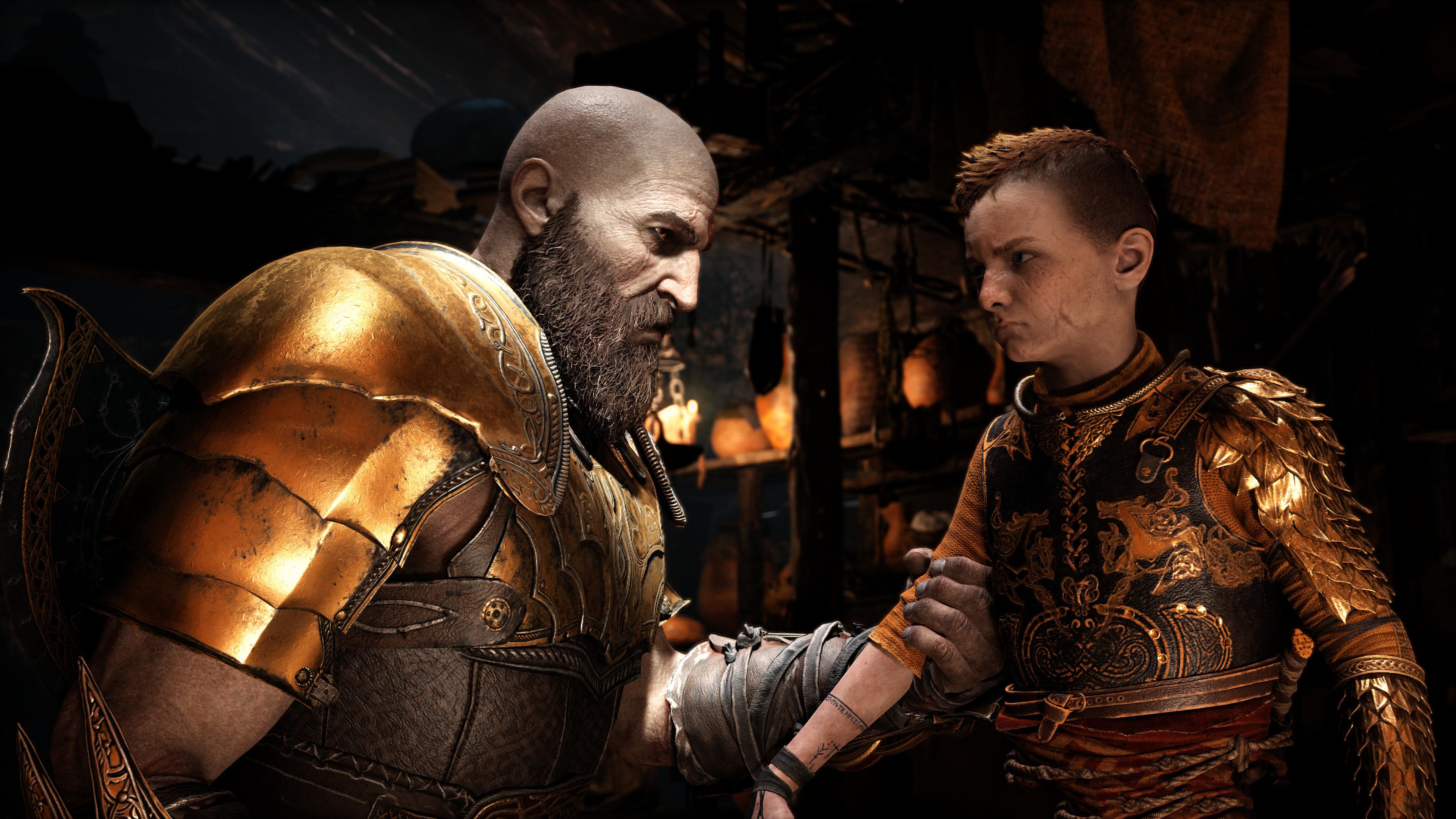 4K God Of War 4 Kratos And Atreus, Hd Games, 4K Wallpapers -6717