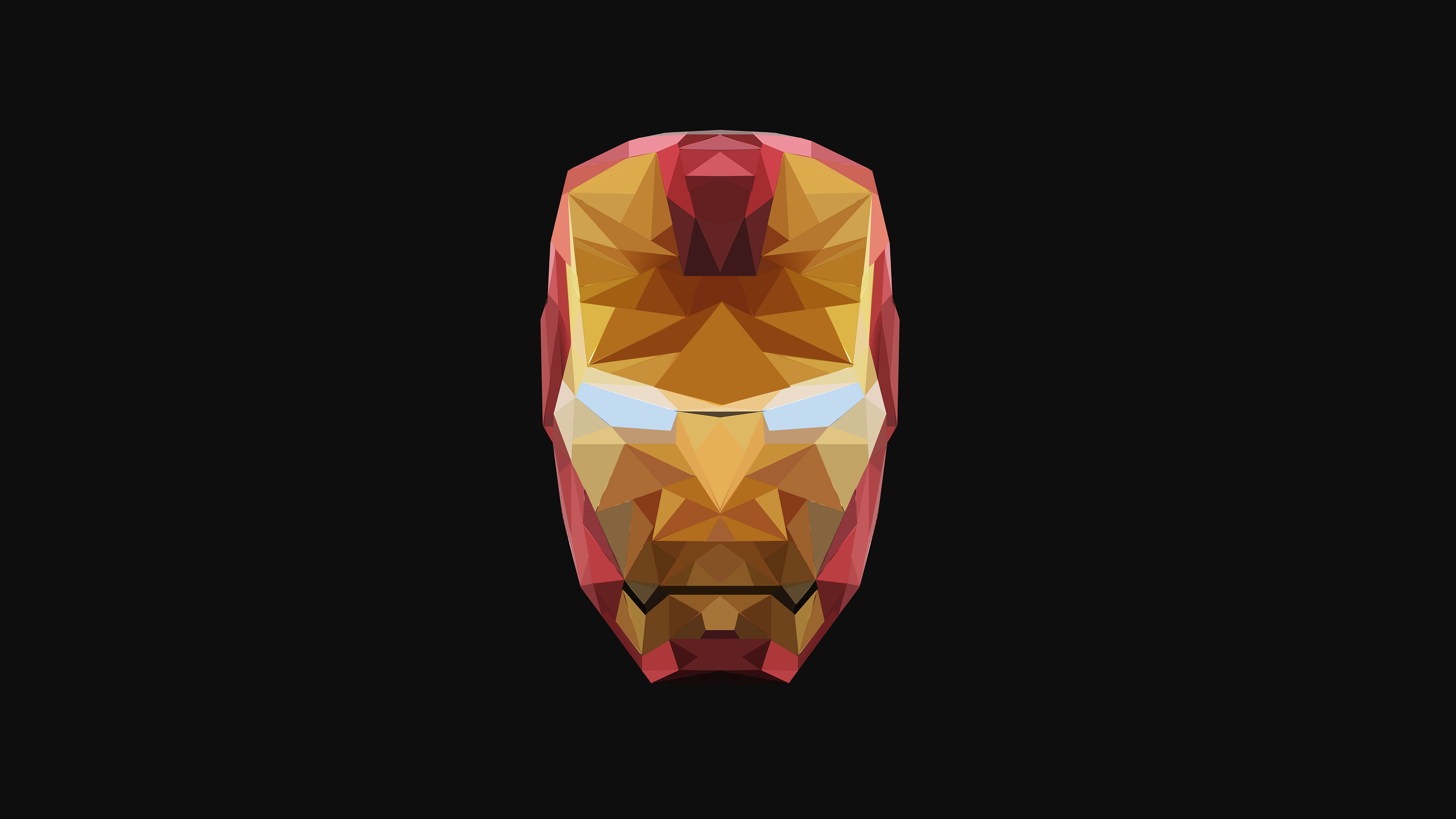 480x854 4k Iron Man Low Poly Android One Hd 4k Wallpapers