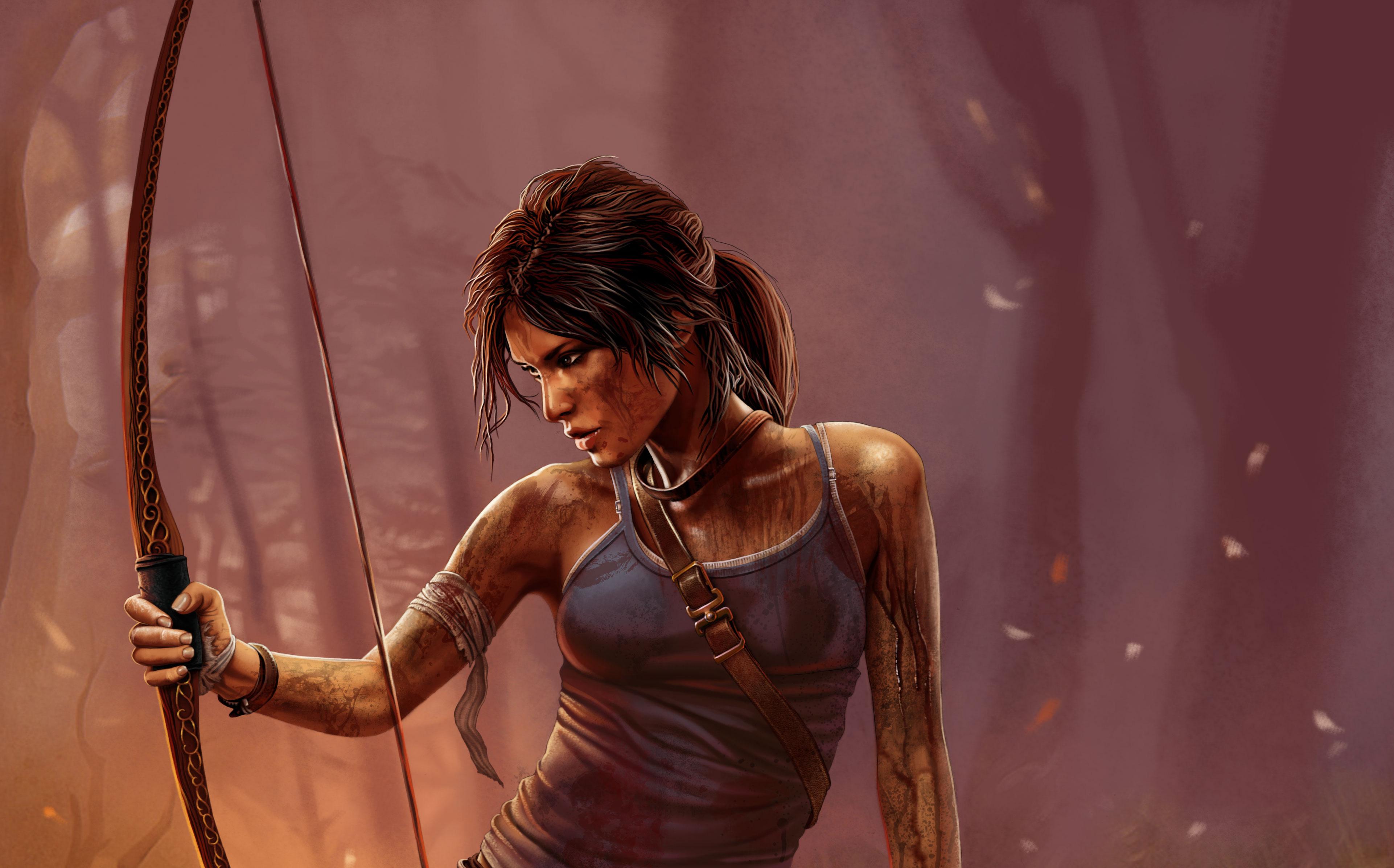 3840x2160 Lara Croft Tomb Raider Artwork 4k Hd 4k: 4k Lara Croft Tomb Raider, HD Games, 4k Wallpapers, Images