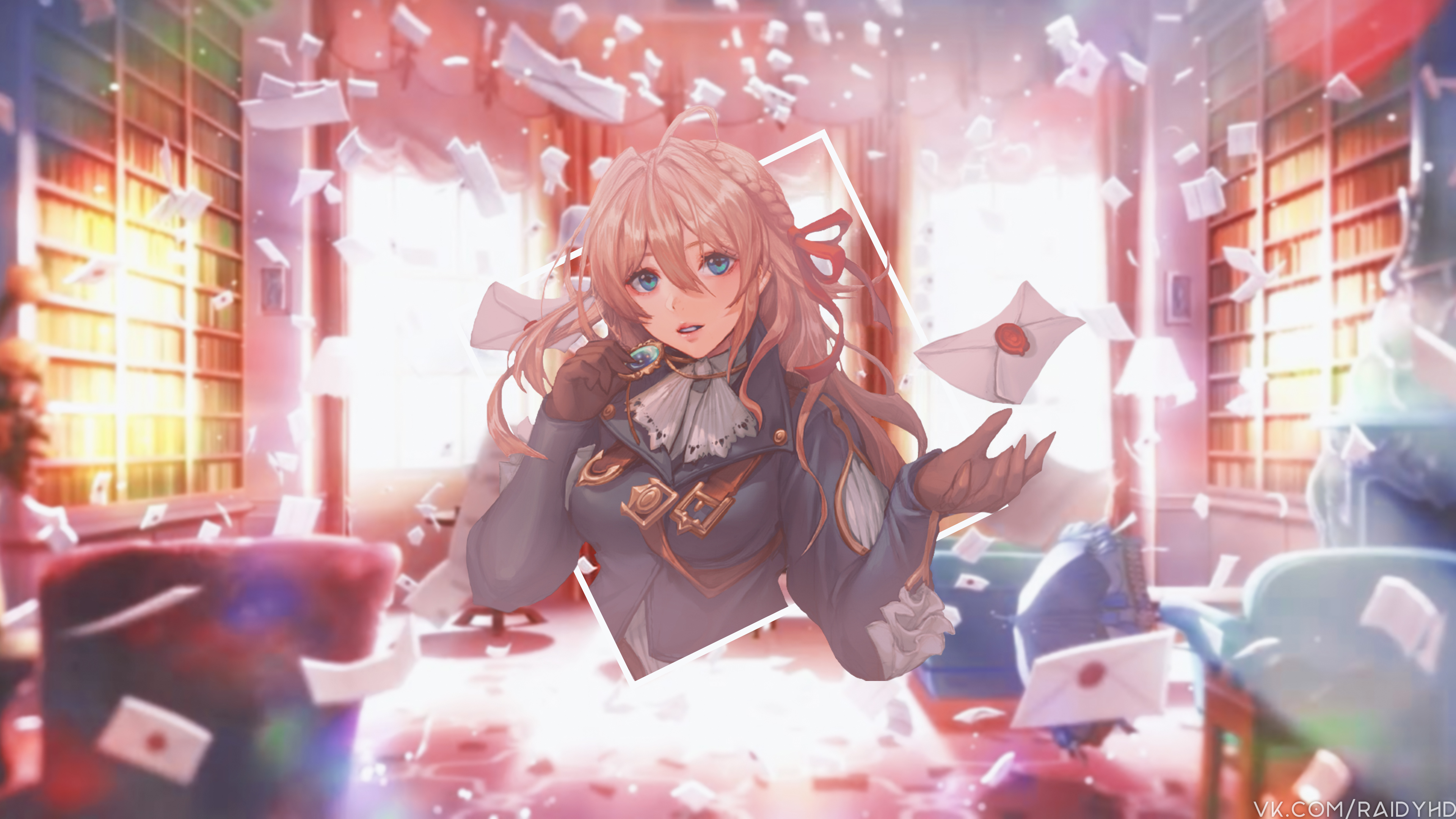 Anime Valentine Hd Anime 4k Wallpapers Images: 1366x768 4k Violet Evergarden Anime 1366x768 Resolution HD