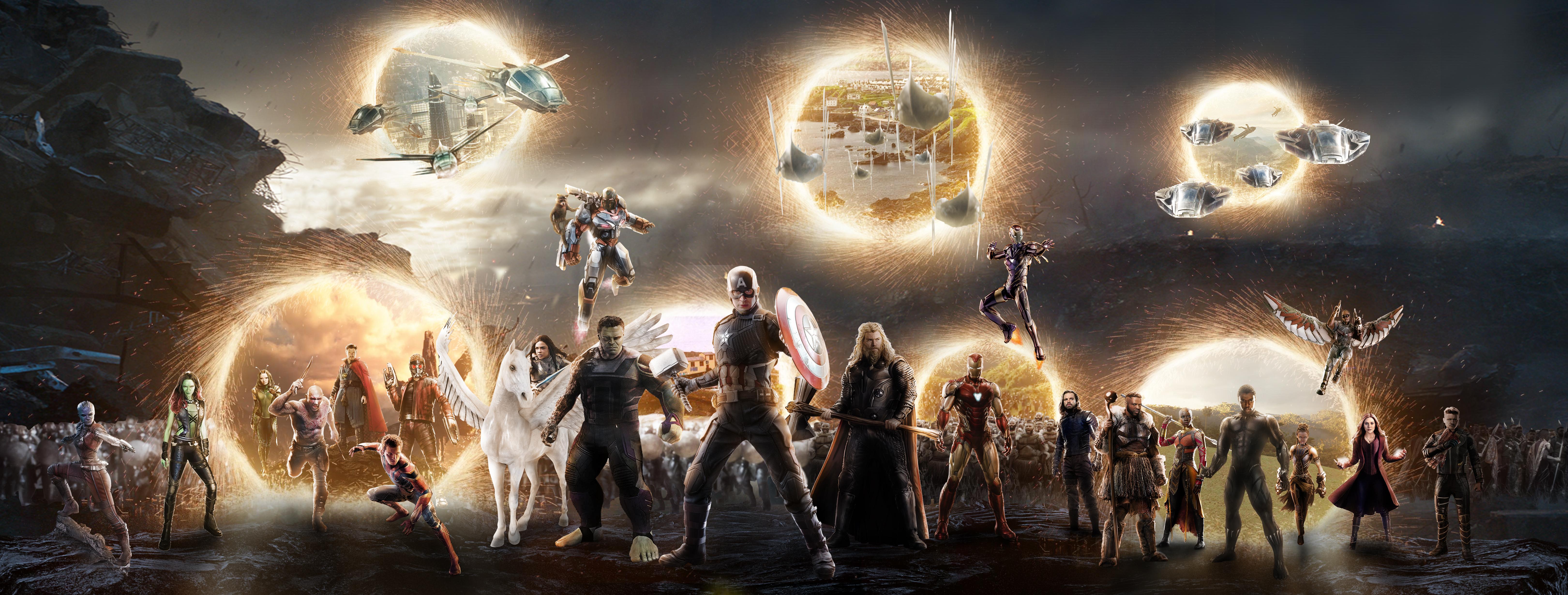5k Avengers Endgame Final Battle Scene Hd Superheroes 4k