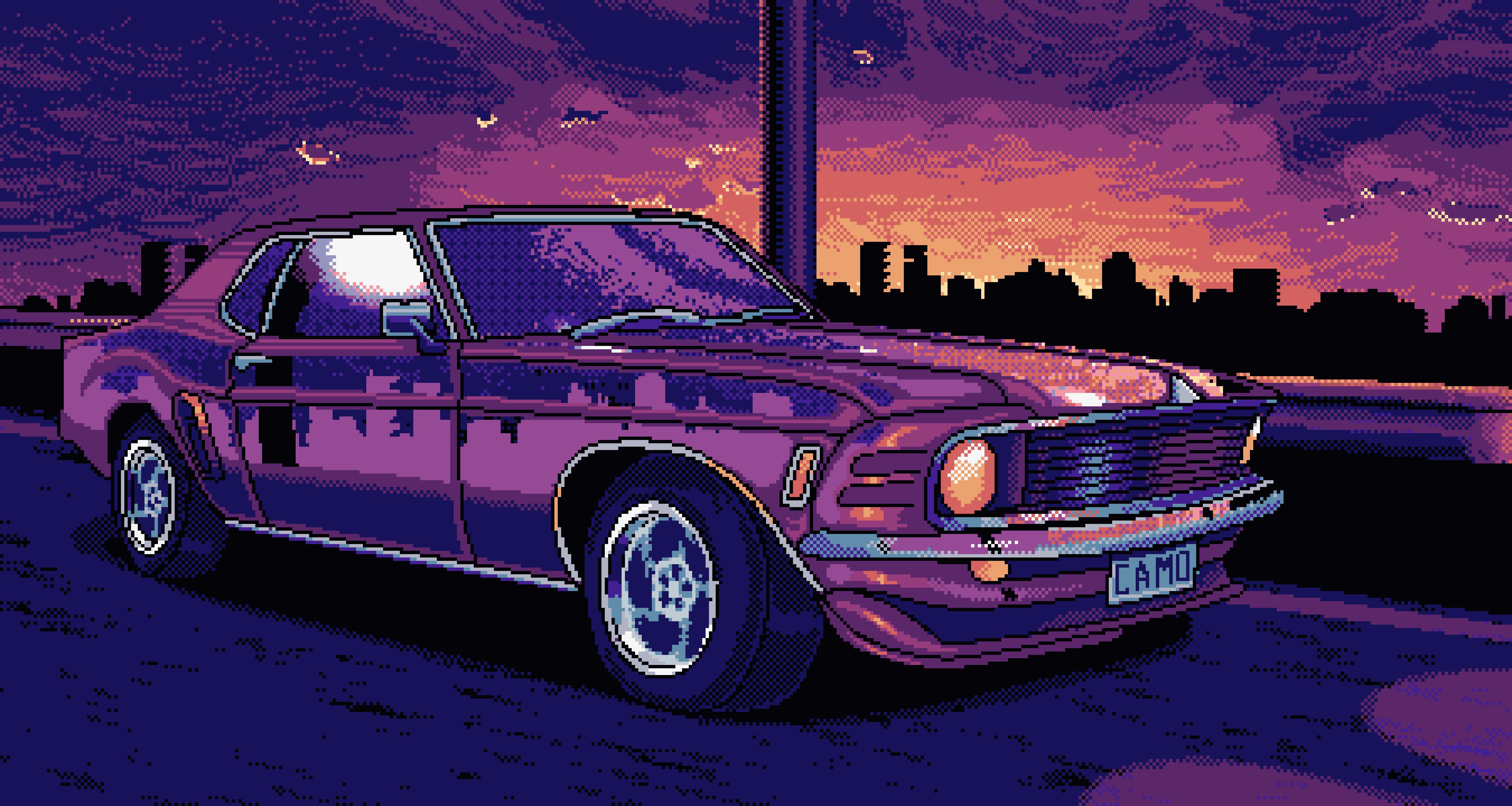 8 Bit Mustang, HD Artist, 4k Wallpapers, Images ...
