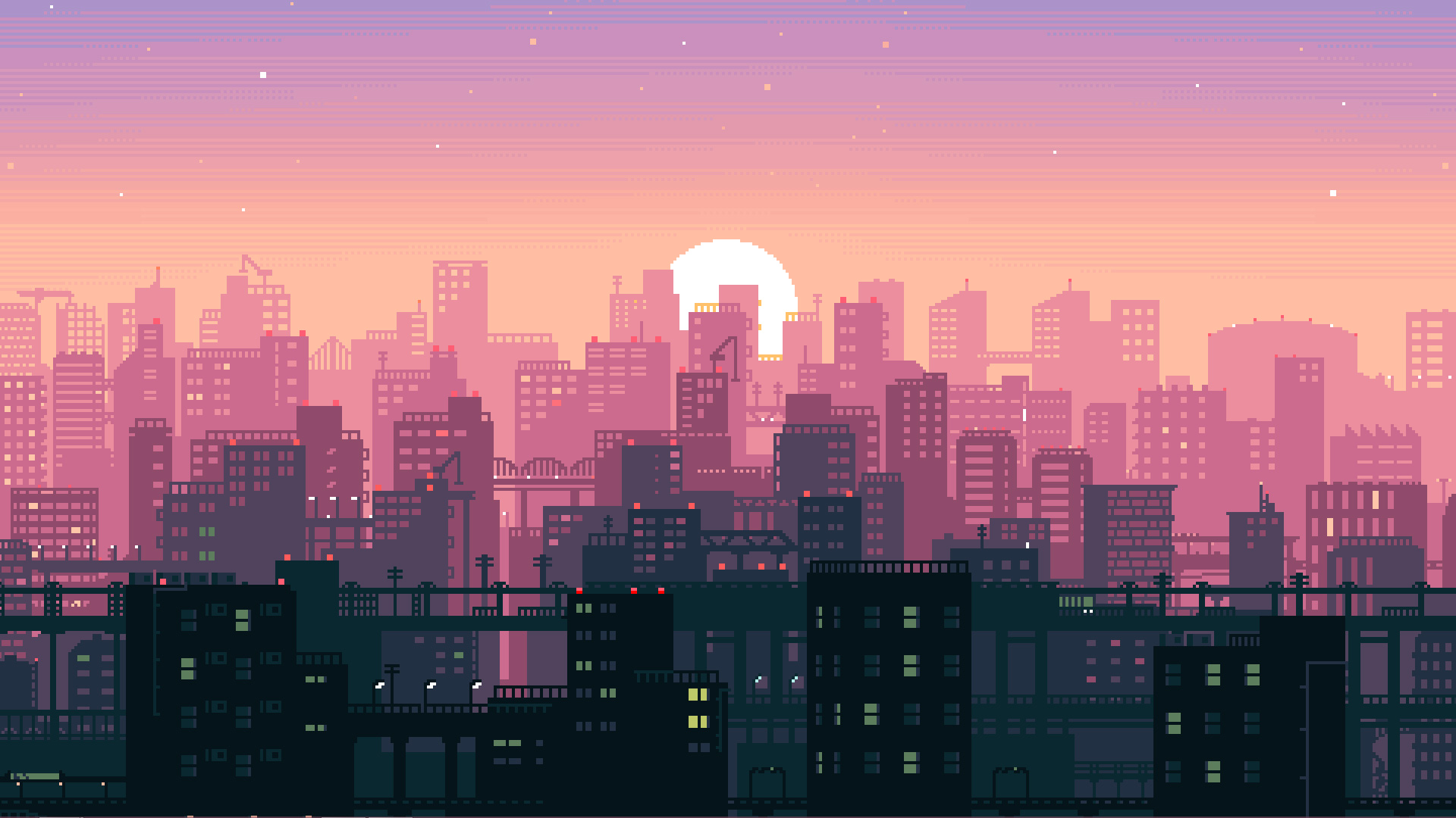 8 Bit Pixel Art City Hd Artist 4k Wallpapers Images Backgrounds
