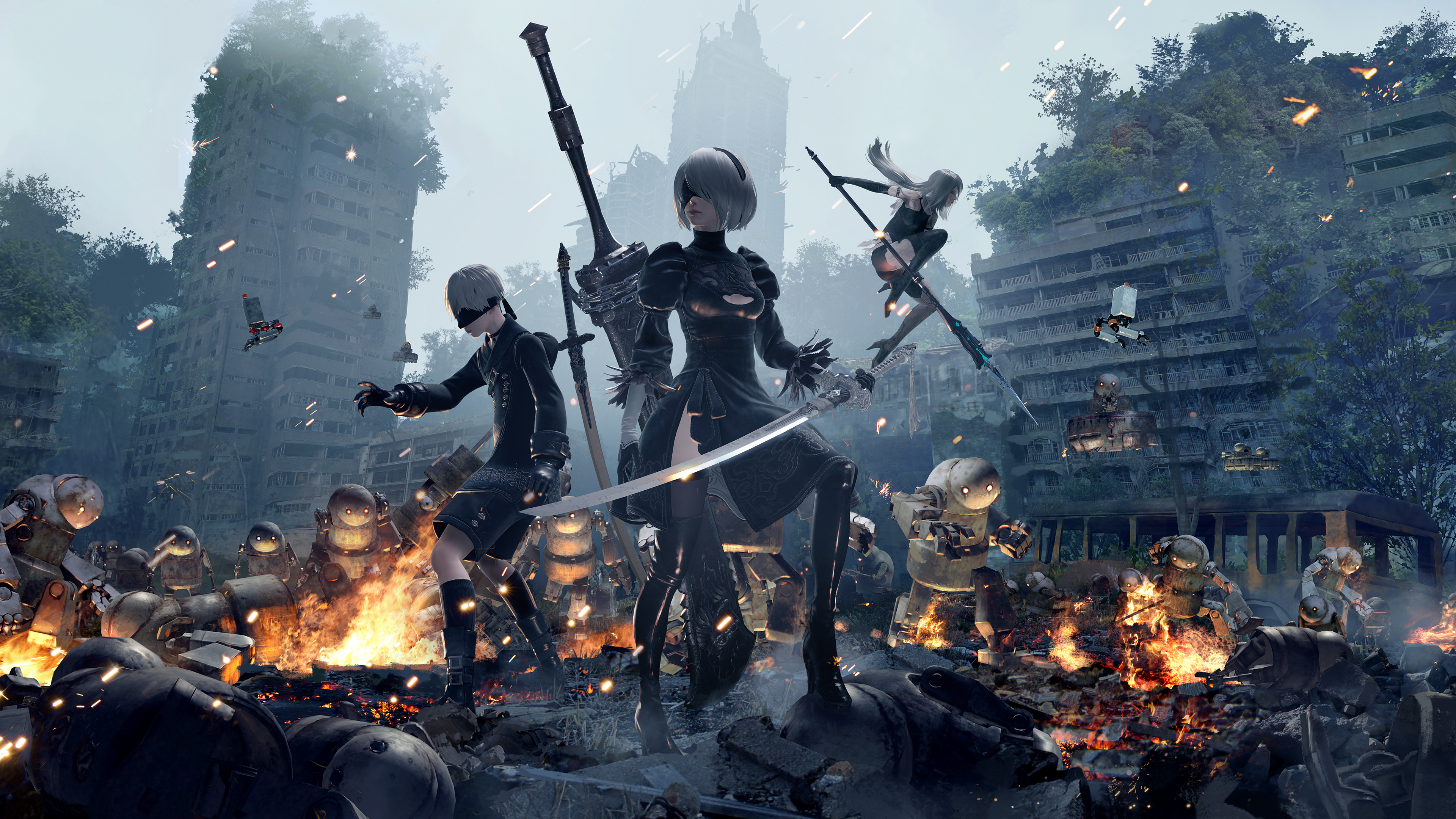 9S 2B And A2 NieR Automata 4k, HD Games, 4k Wallpapers ...
