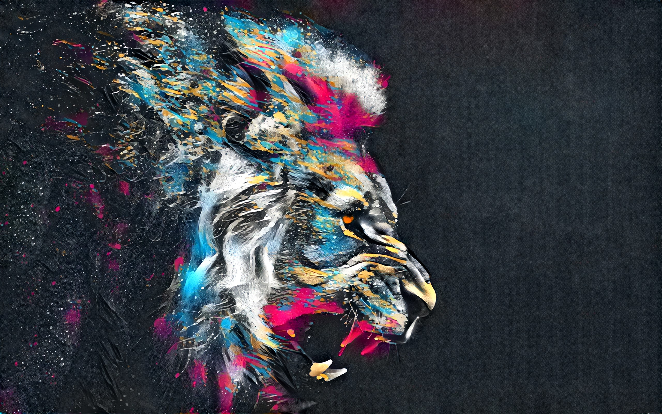 1920x1200 Abstract Artistic Colorful Lion 1080P Resolution