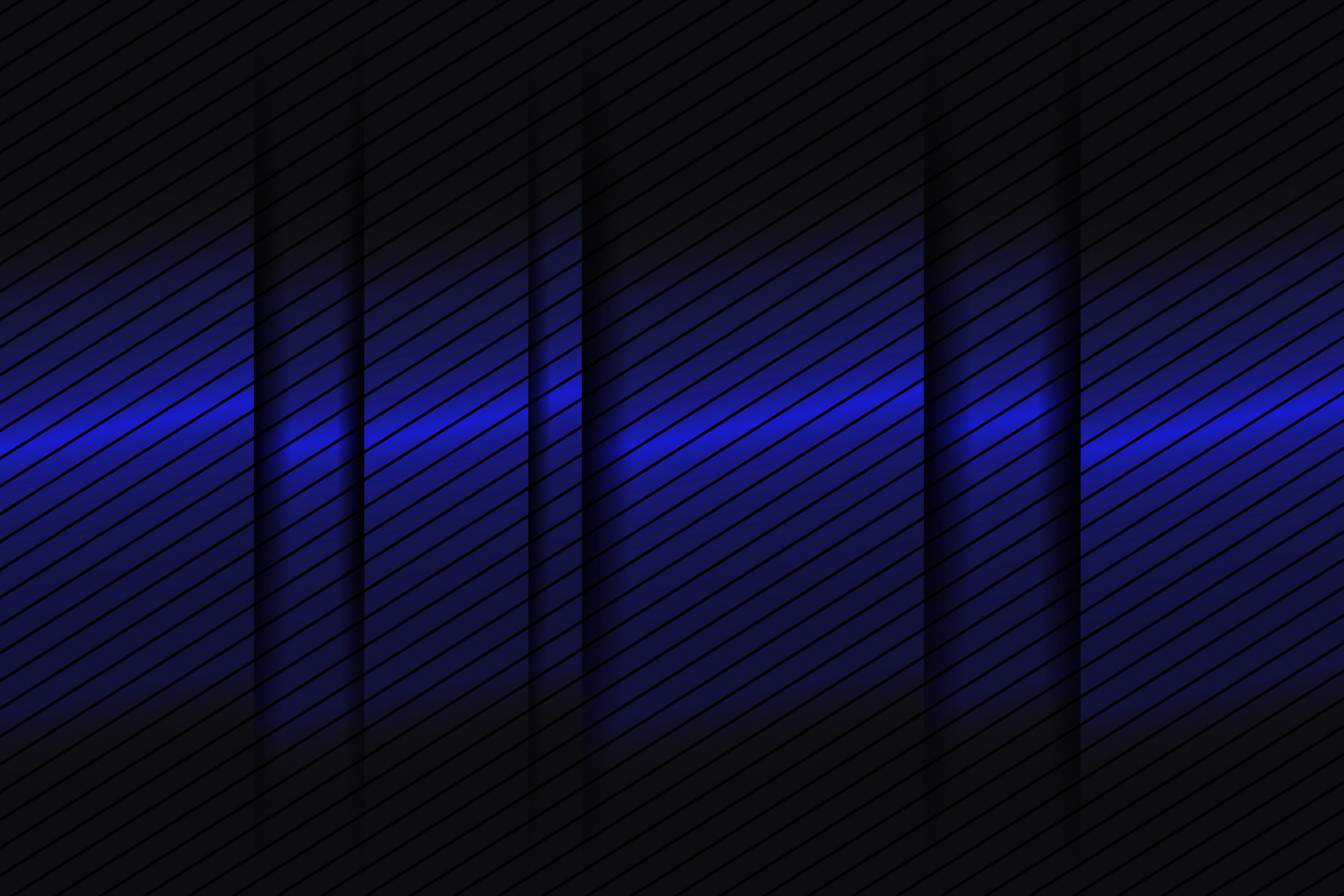 Abstract Blue Gradient Lines 3d, HD Abstract, 4k