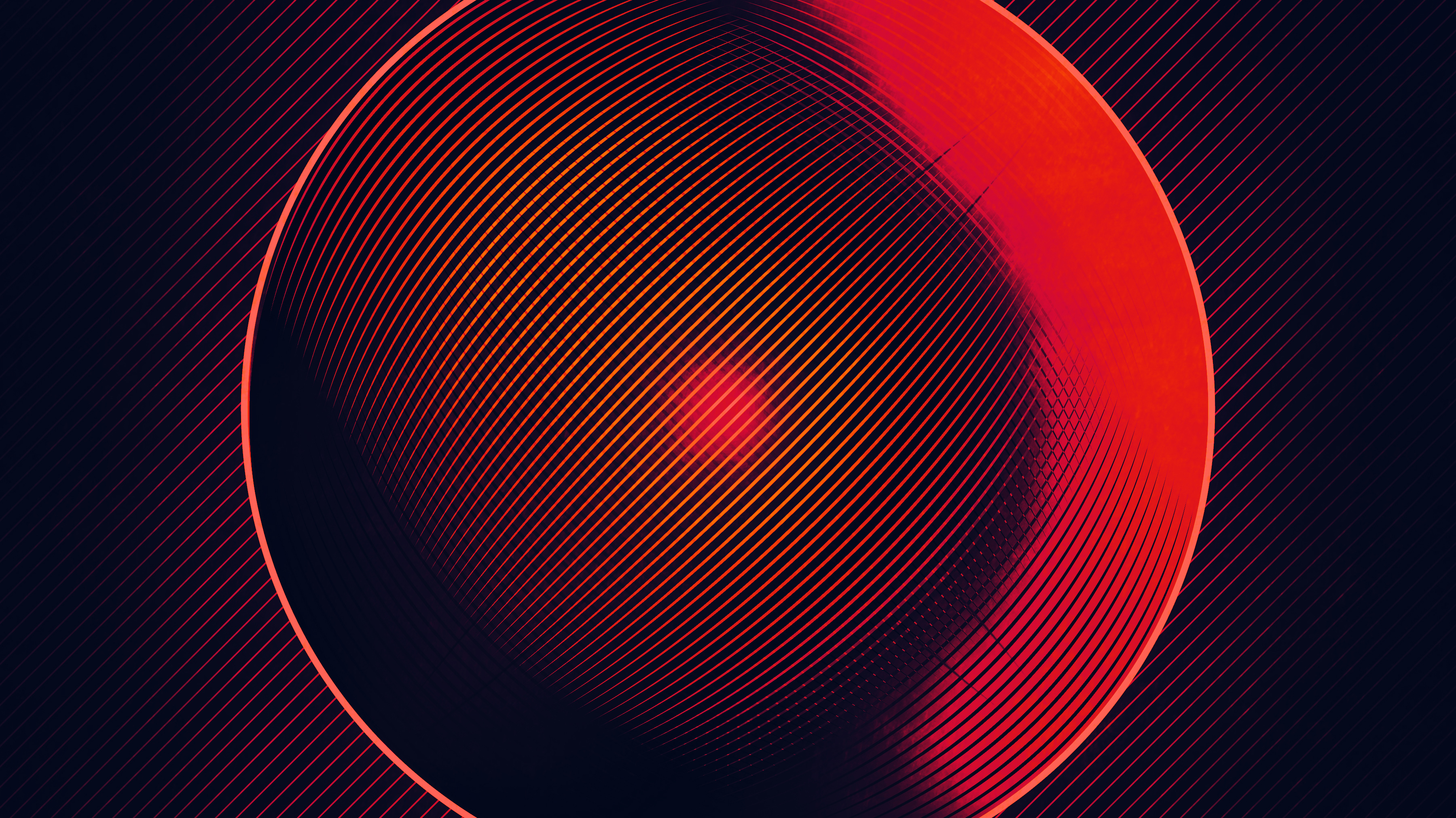 1125x2436 Abstract Circle Red Lines 4k Iphone Xs Iphone 10