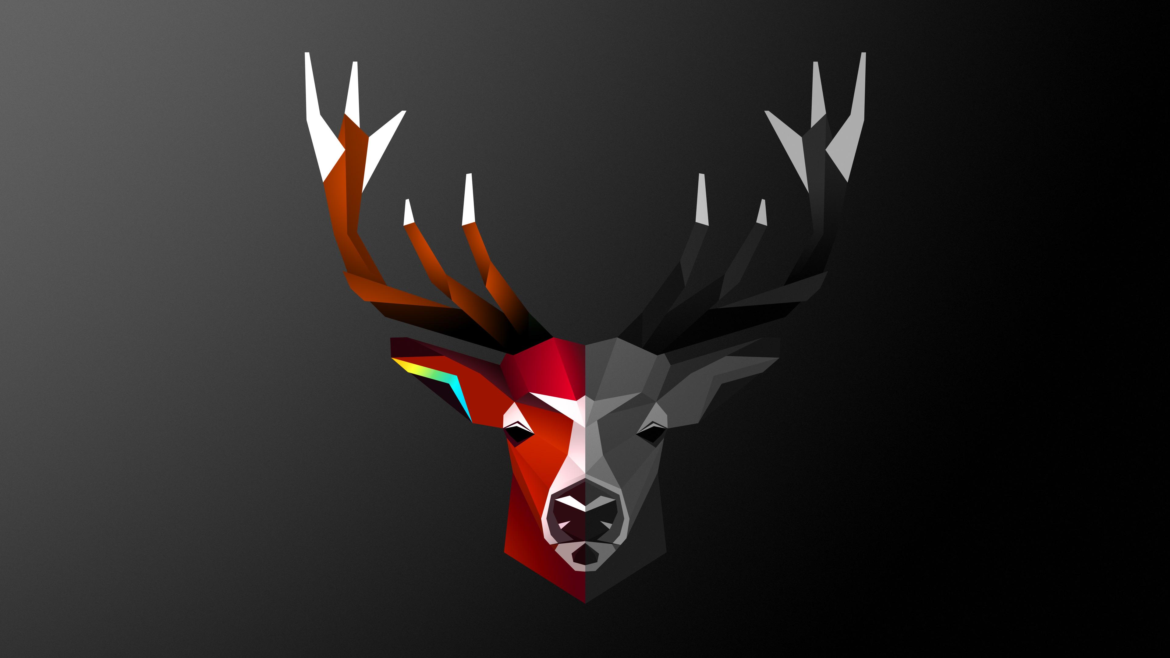 2560x1440 Abstract Deer 4k 1440P Resolution HD 4k