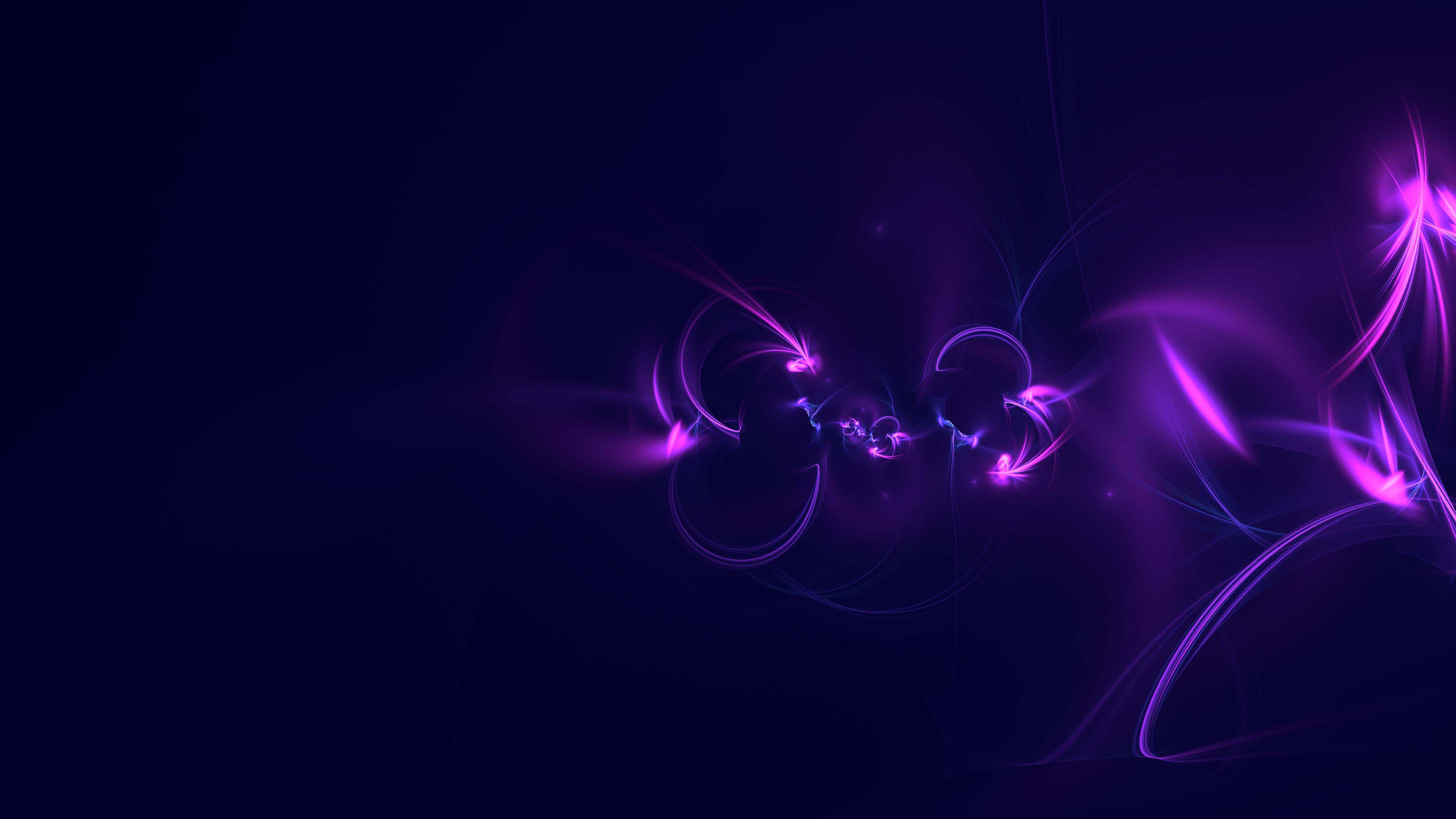 Abstract Digital Art Purple Background 5k