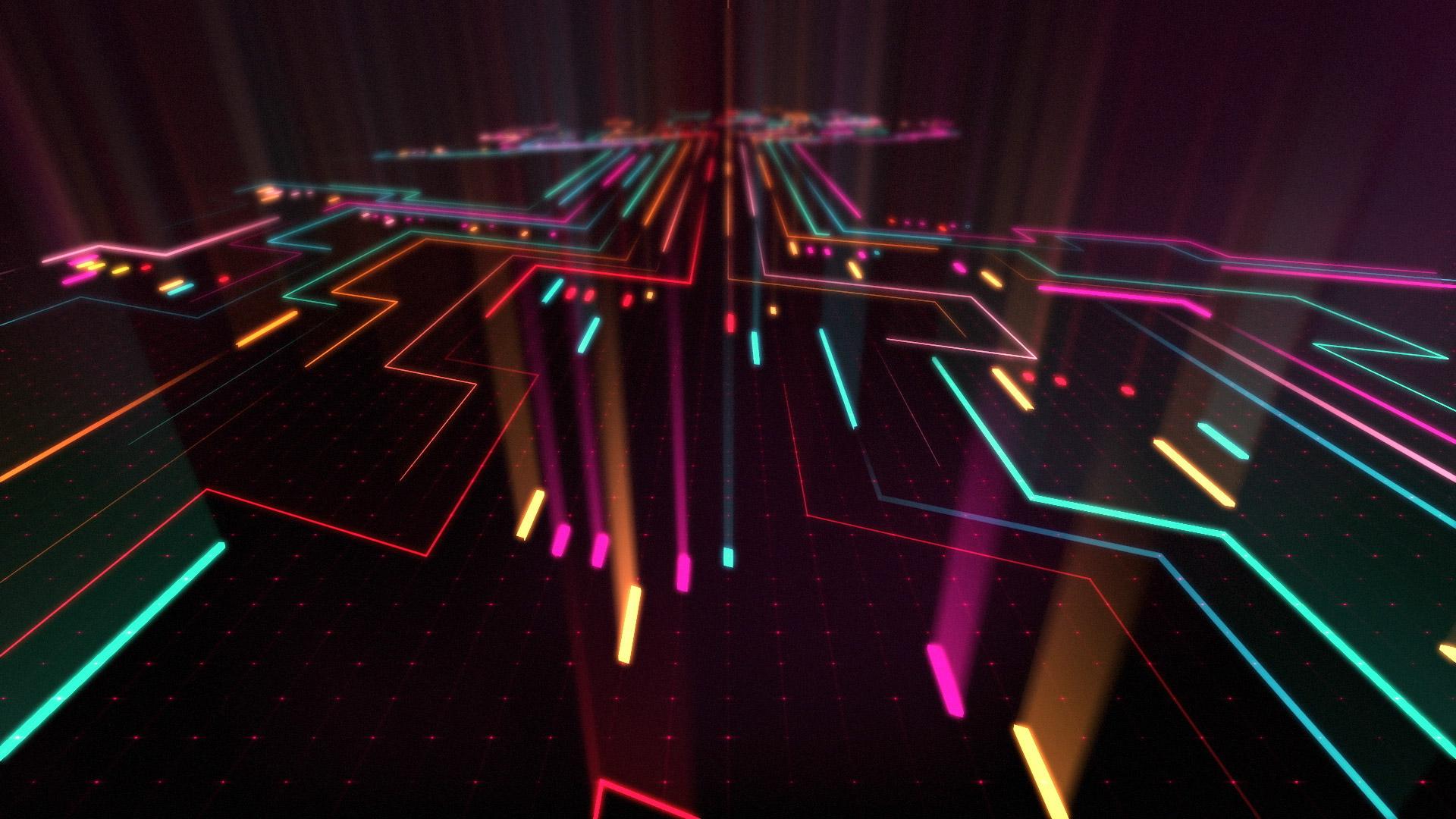 Abstract Neon Digital Art