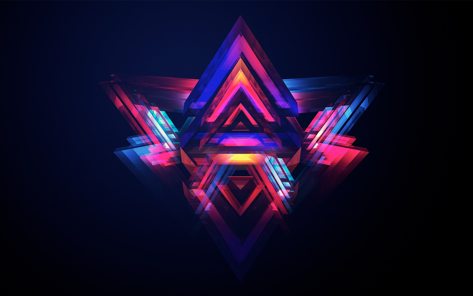 abstract pyramids, hd abstract, 4k wallpapers, images, backgrounds