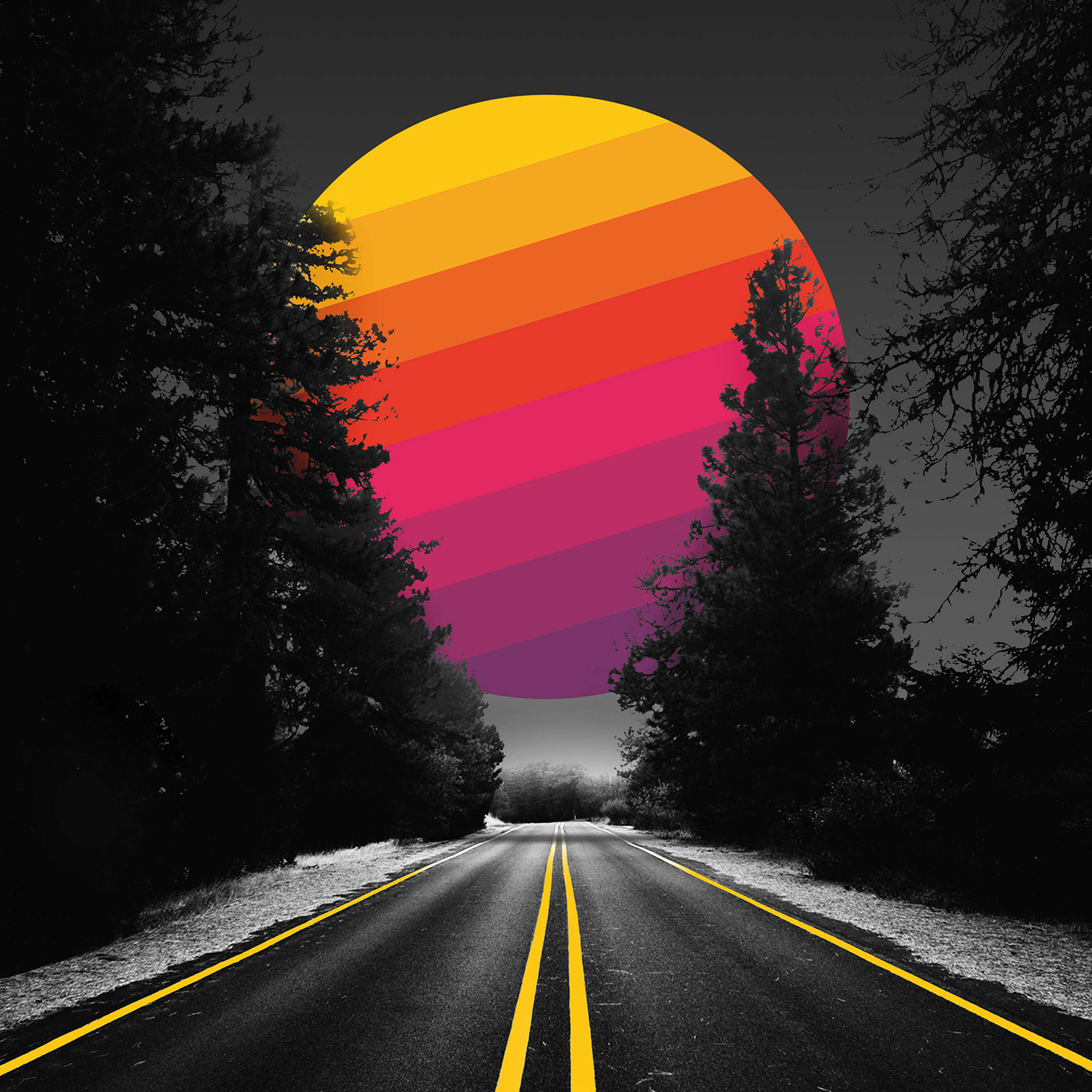2560x1080 Adventure Road Abstract Colorful Sun 2560x1080