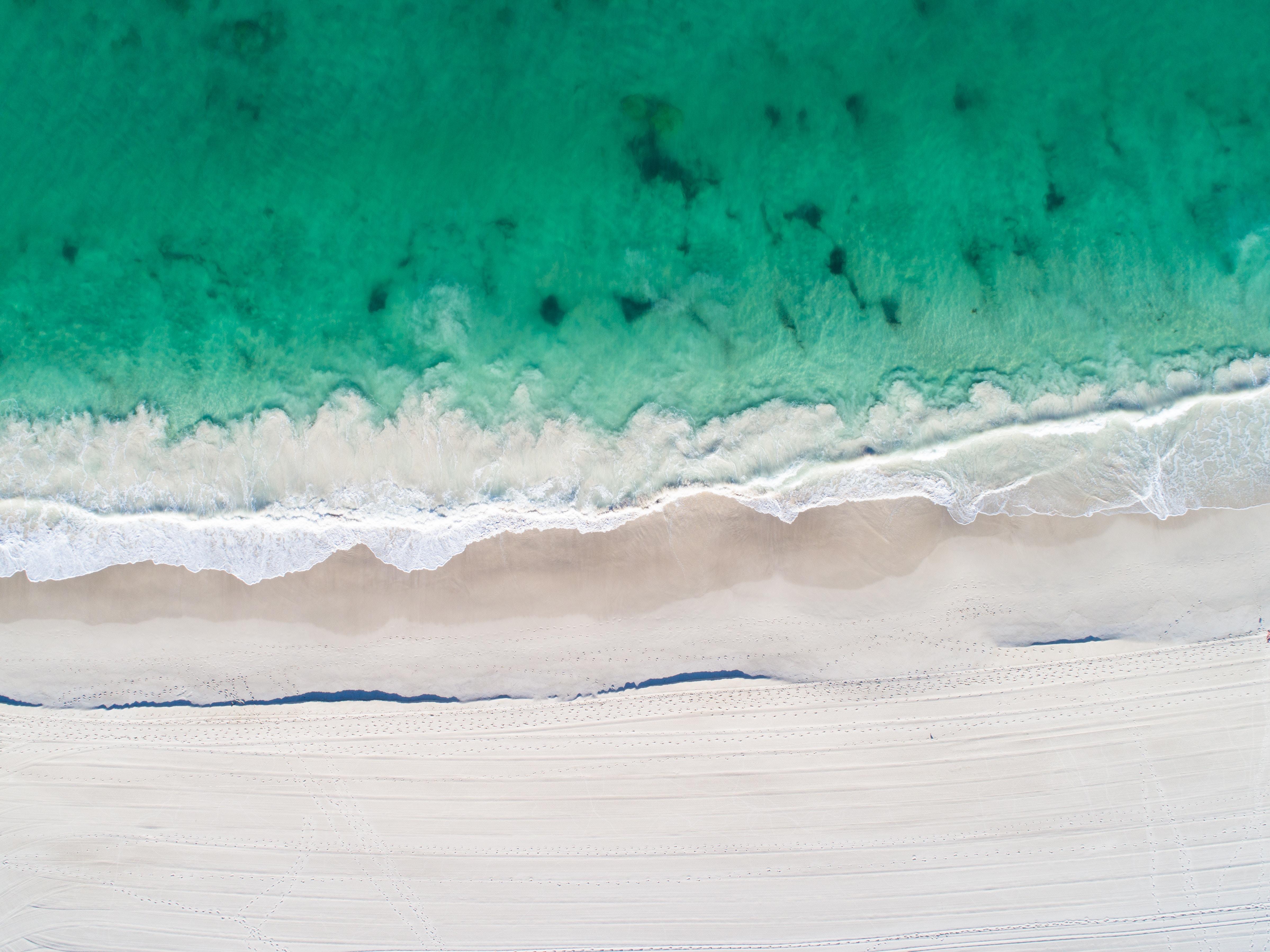 Aerial View Of Beach Clear Ocaen Sand 5k, HD Nature, 4k ...