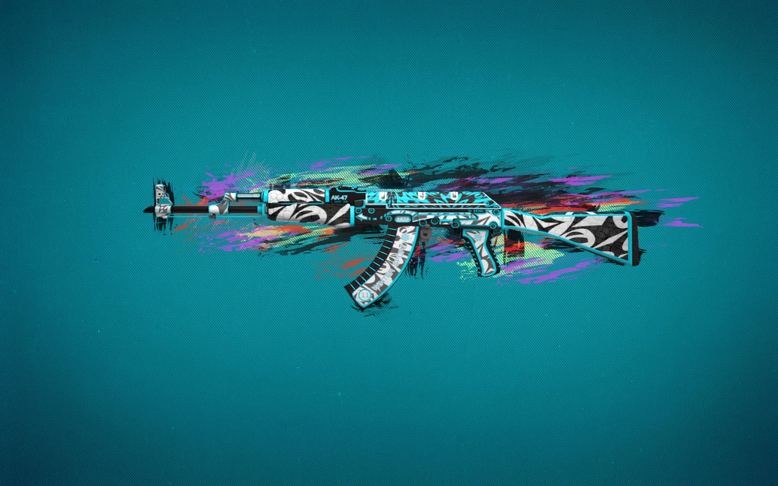 Ak47 Colorful Art 2048x1152 Resolution