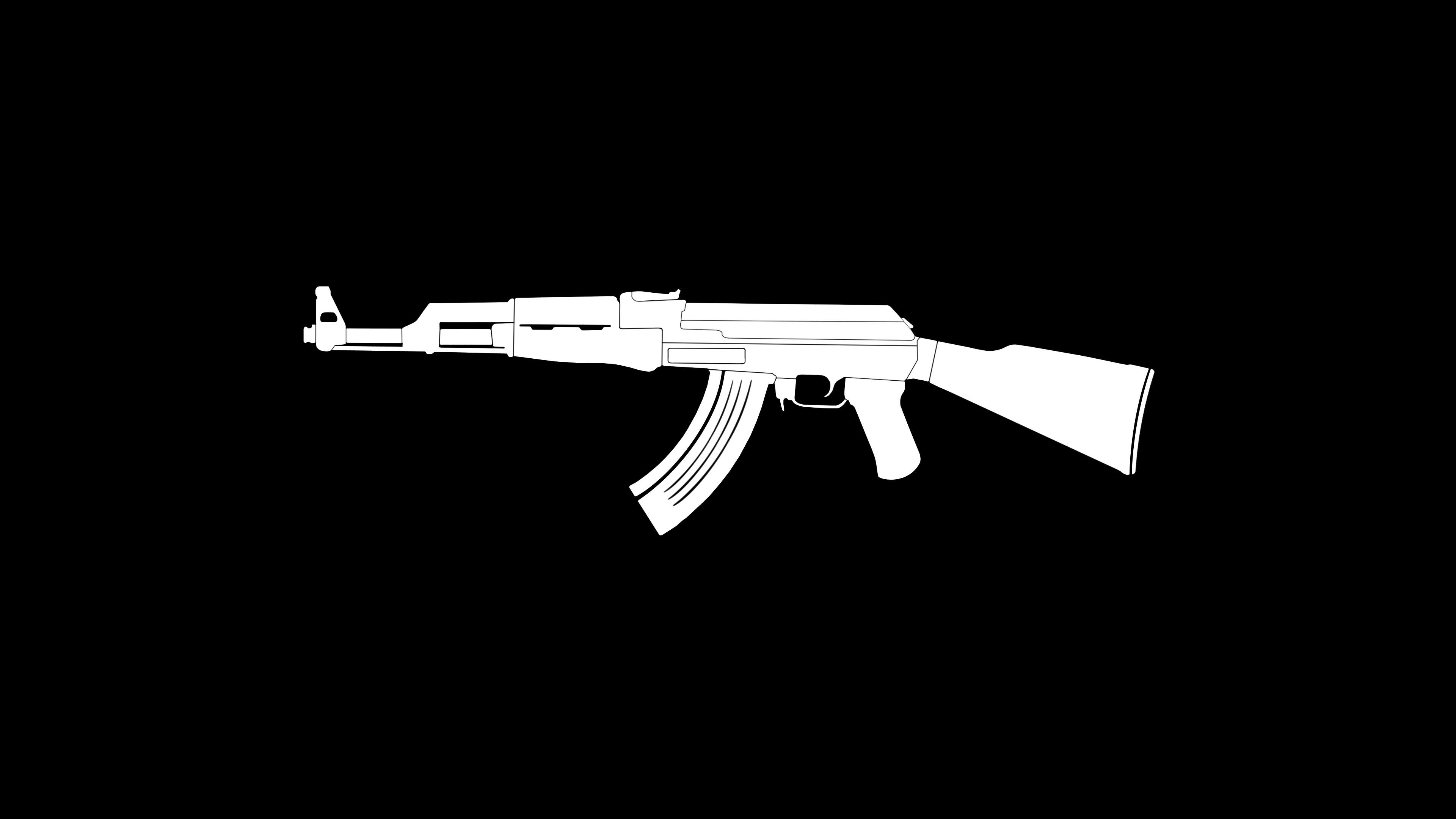 AK47 Gun Weapon Minimalism