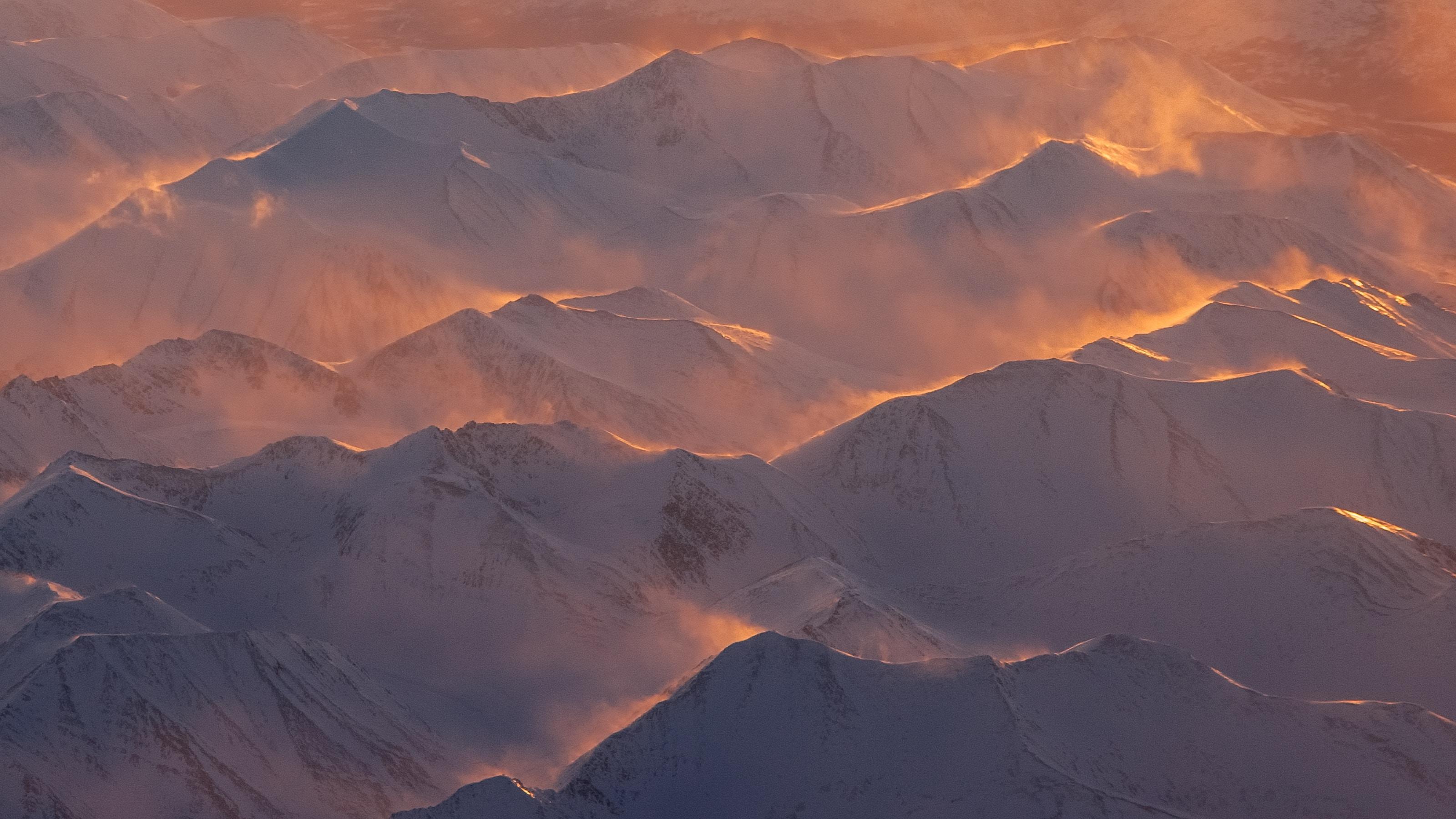 Alaska Mountains Range Morning