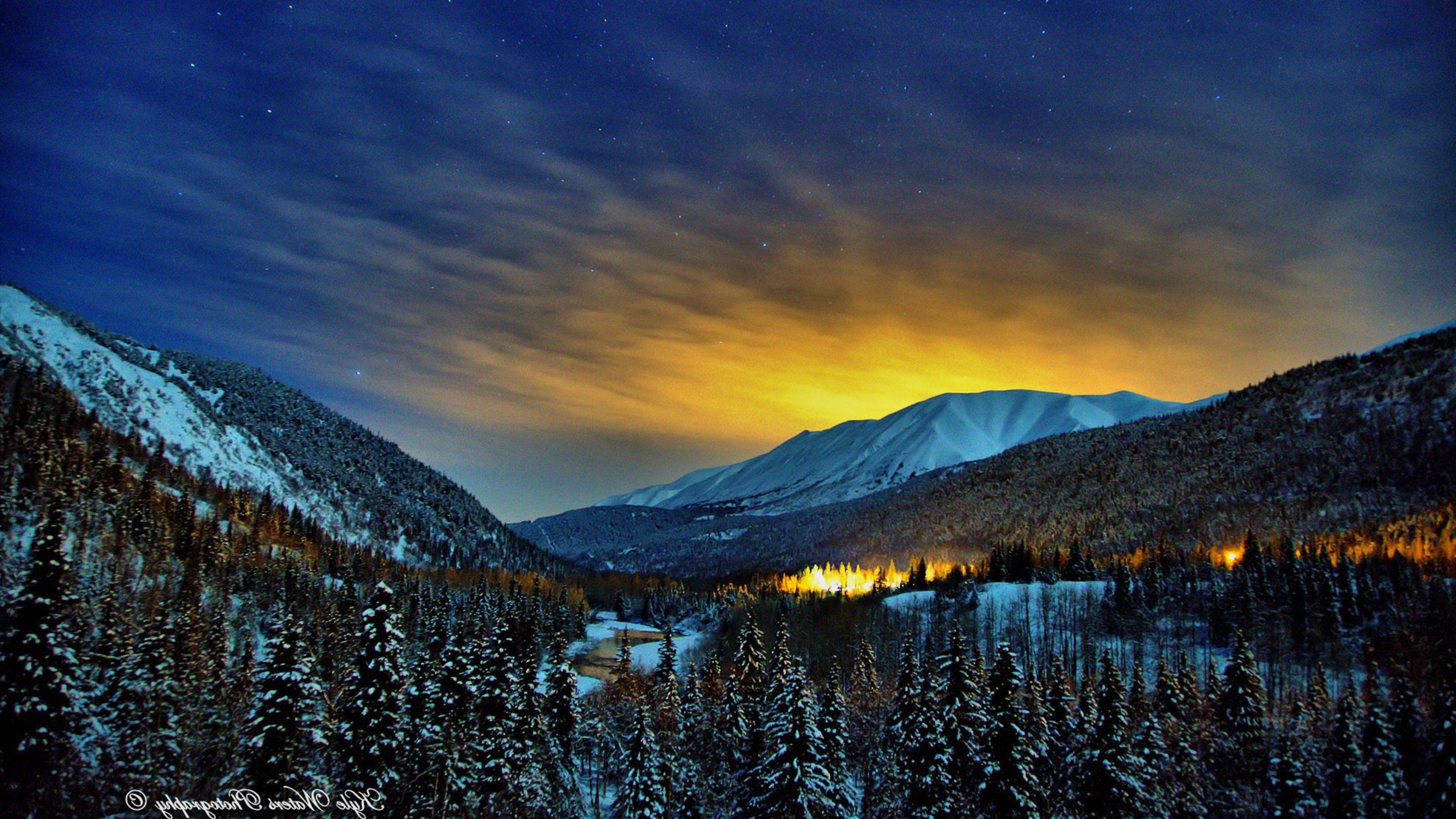 alaska winter nights hd nature 4k wallpapers images