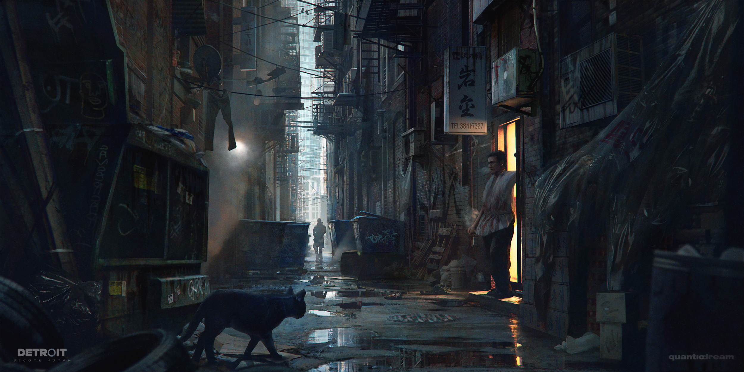 Detroit Become Human Hd Wallpaper: Alleyway Detroit Become Human, HD Games, 4k Wallpapers