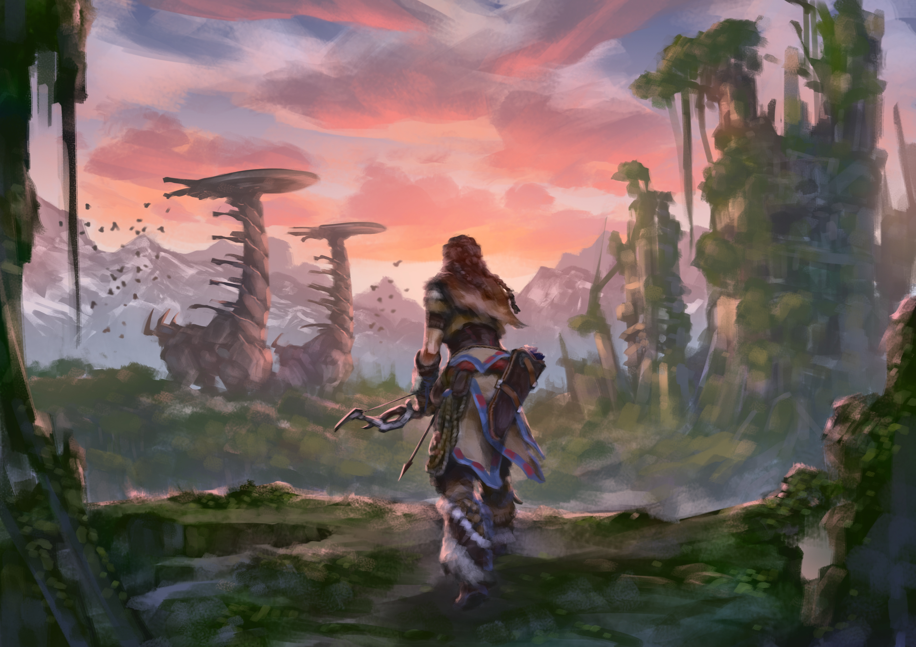 Aloy horizon zero dawn artwork 4k hd games 4k wallpapers - Horizon zero dawn android wallpaper ...