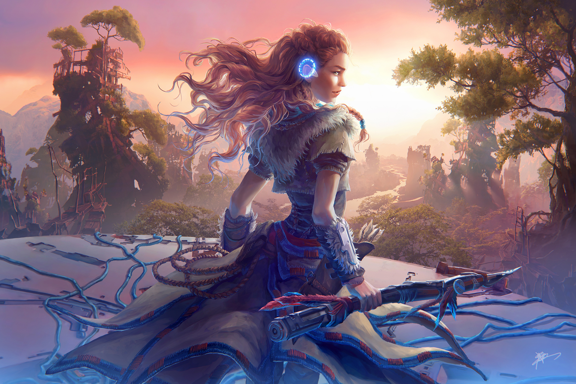 Aloy horizon zero dawn game artwork hd games 4k - Horizon zero dawn android wallpaper ...