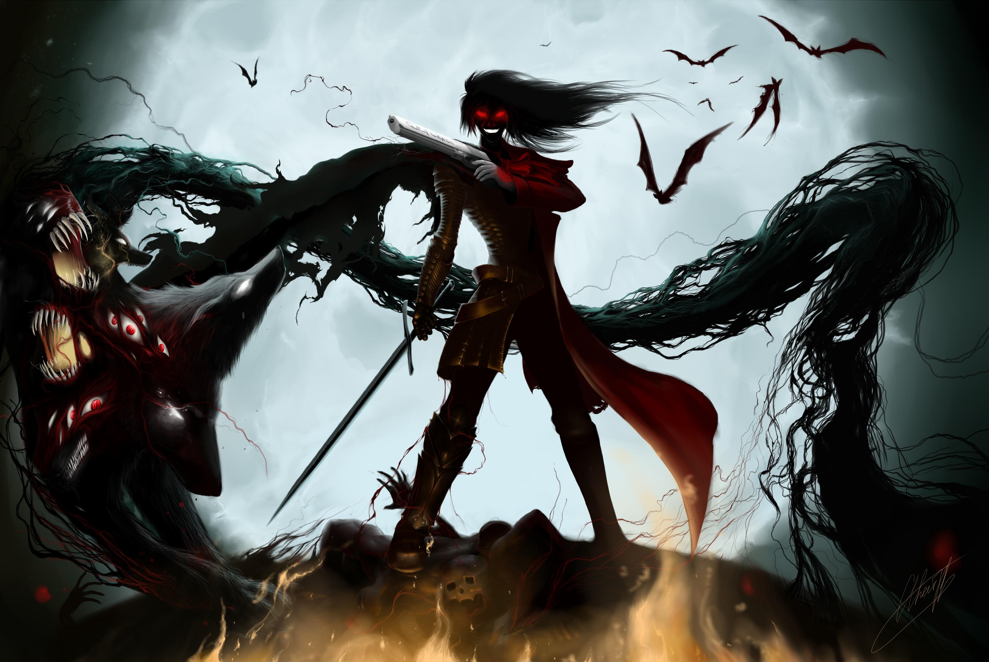 Alucard hellsing ultimate dracula gothic 4k