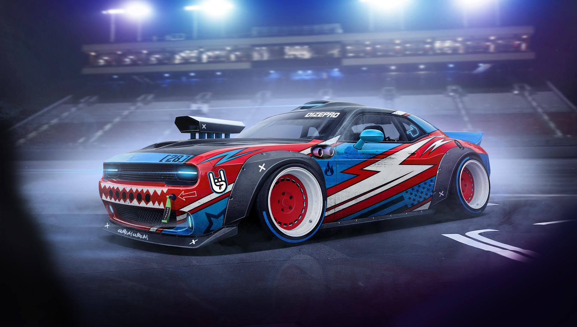 Amazing Drift Car Artwork Hd Artist 4k Wallpapers Images