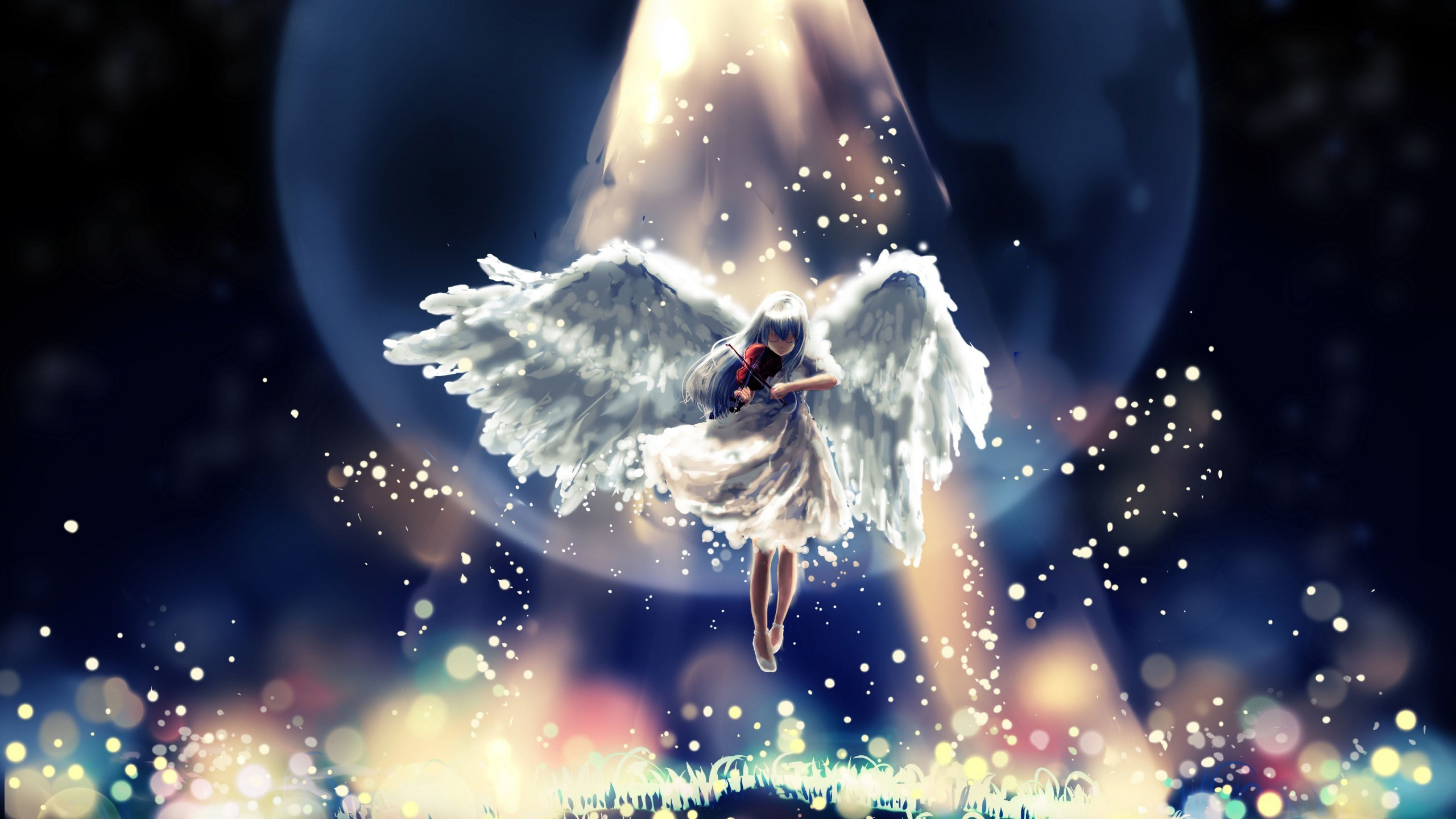 angel wings hd anime 4k wallpapers images backgrounds