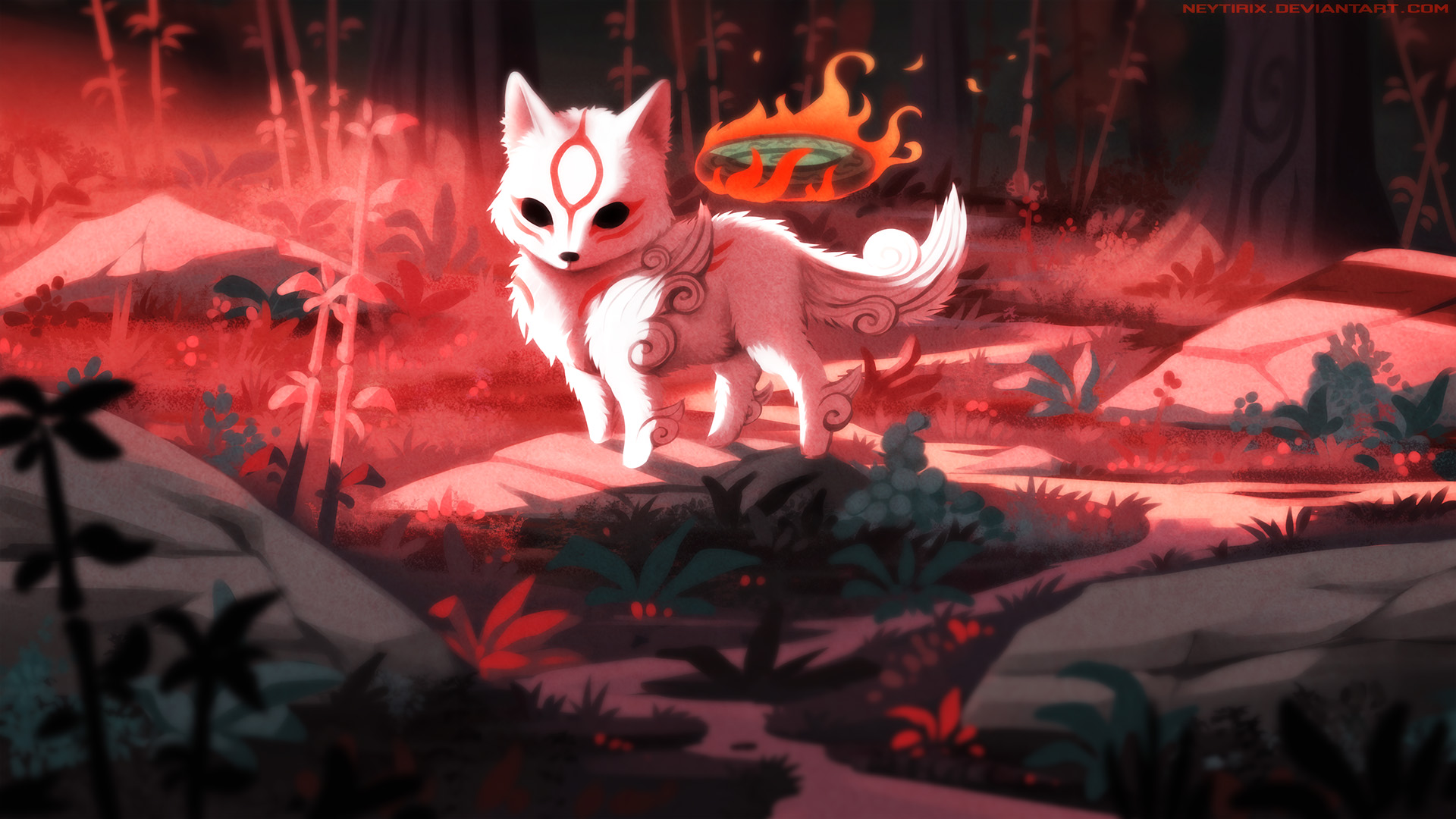 Animal Fox Okami HD Artist 4k Wallpapers Images Backgrounds