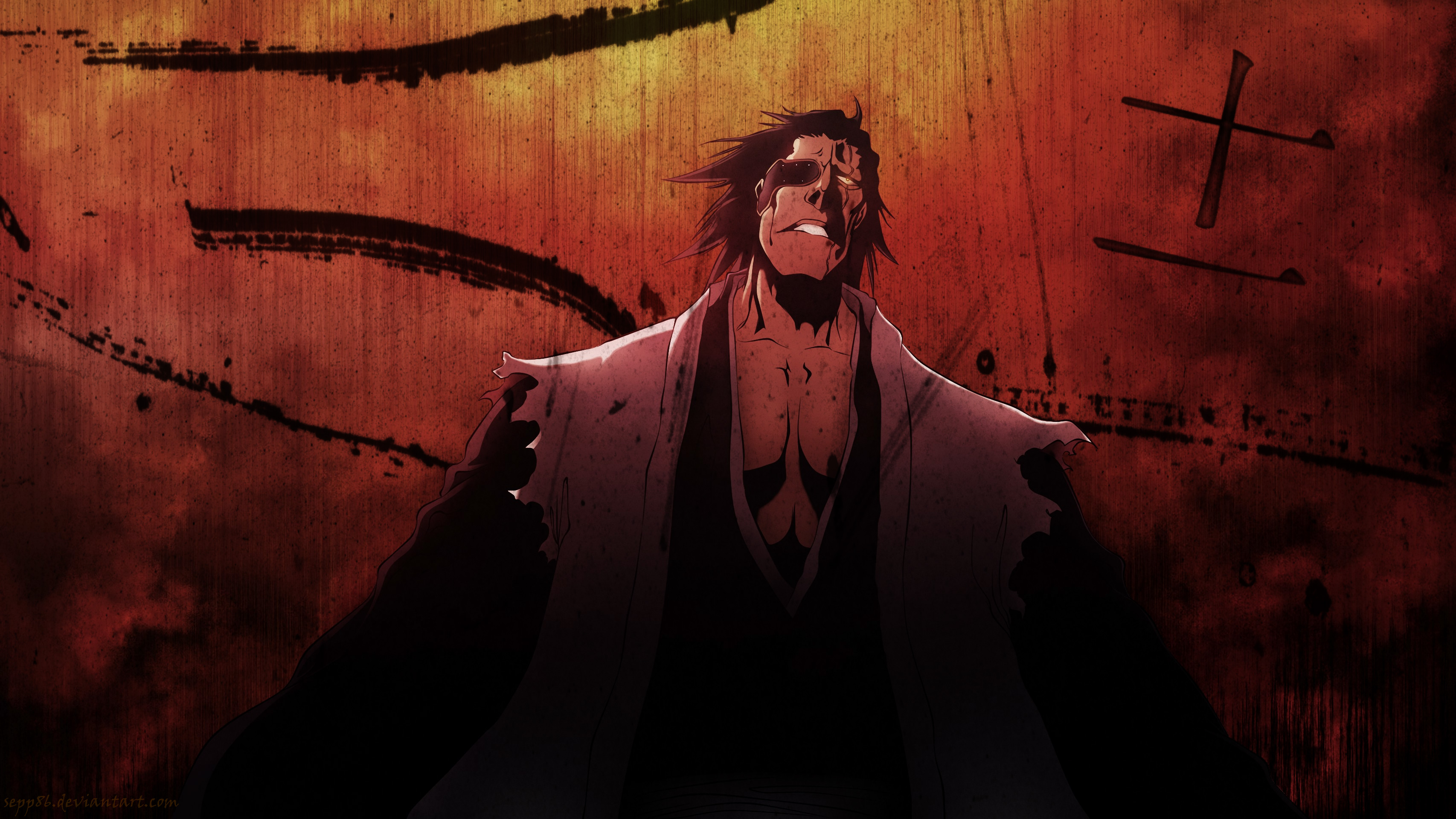 anime bleach kenpachi zaraki, hd anime, 4k wallpapers, images