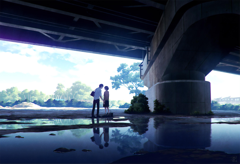 Anime Couple Meeting Under Bridge 4k, HD Anime, 4k ...